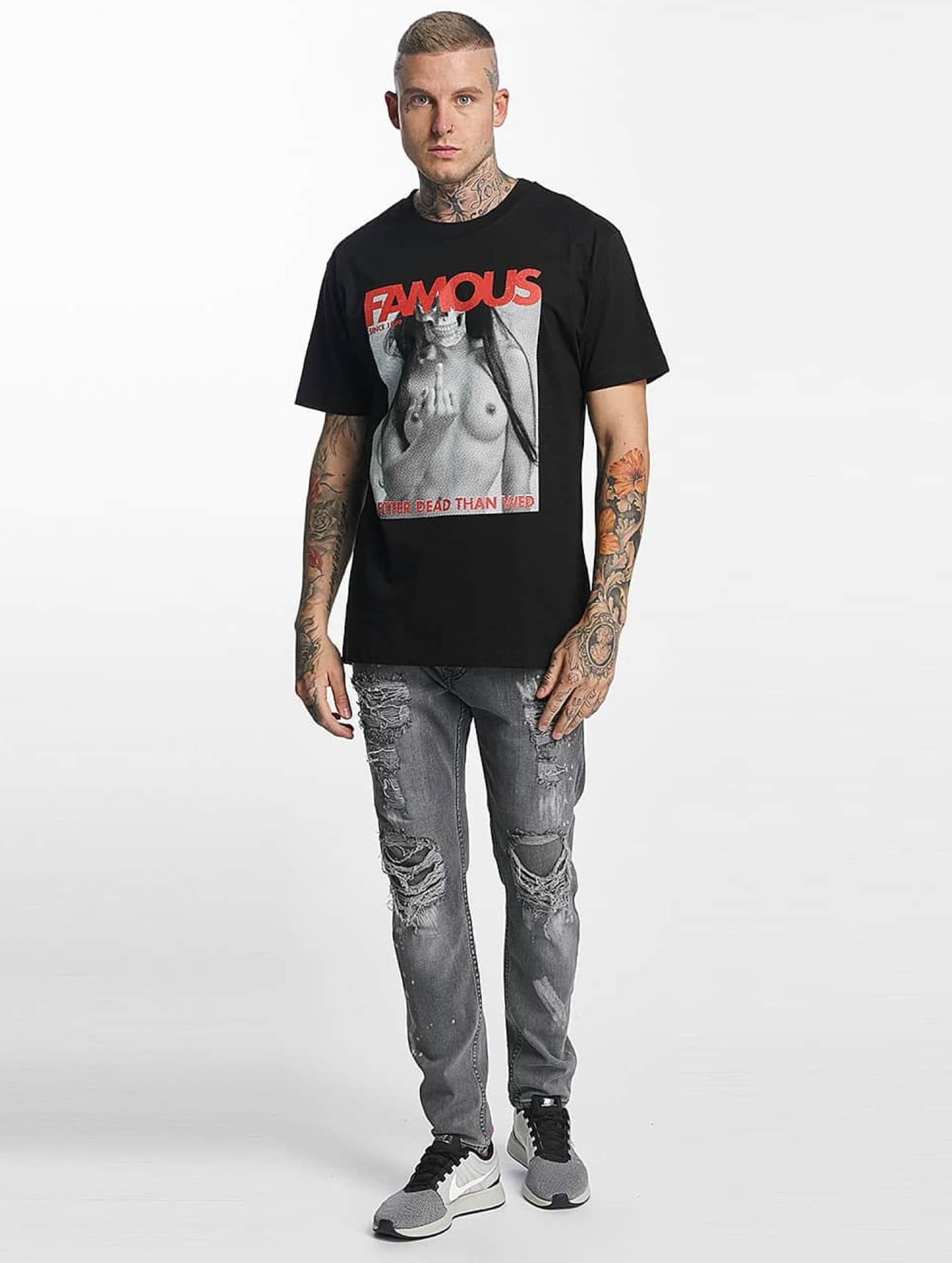 Famous Stars and Straps T-Shirt Better Dead Than Wed noir