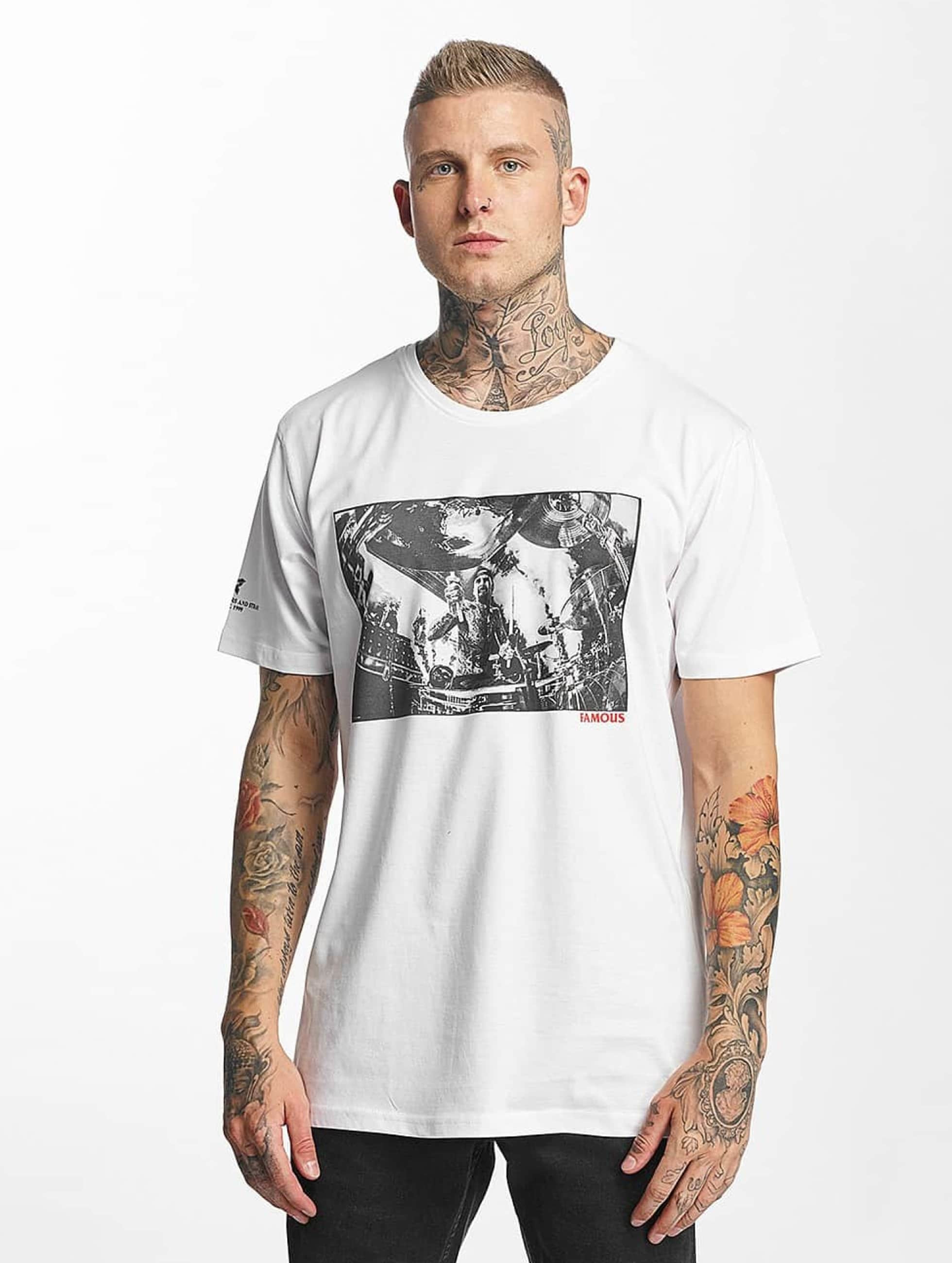 Famous Stars and Straps T-Shirt Drums Drums Drums weiß