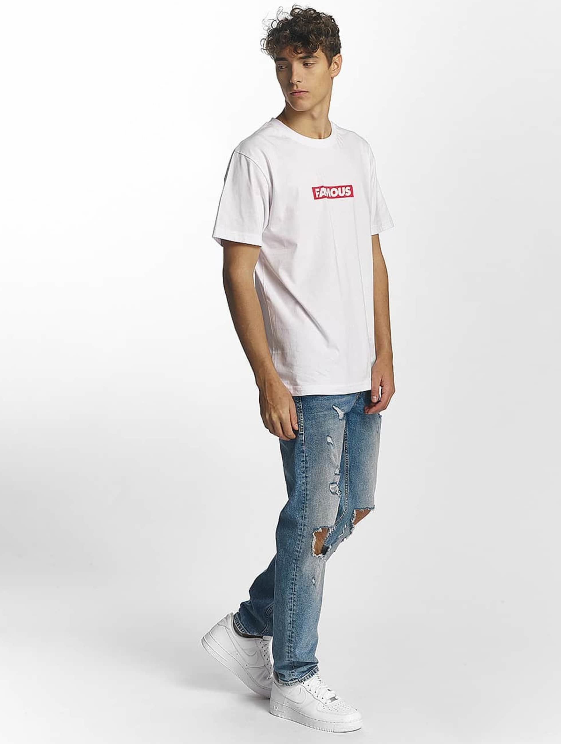 Famous Stars and Straps T-Shirt Famous Box Logo white