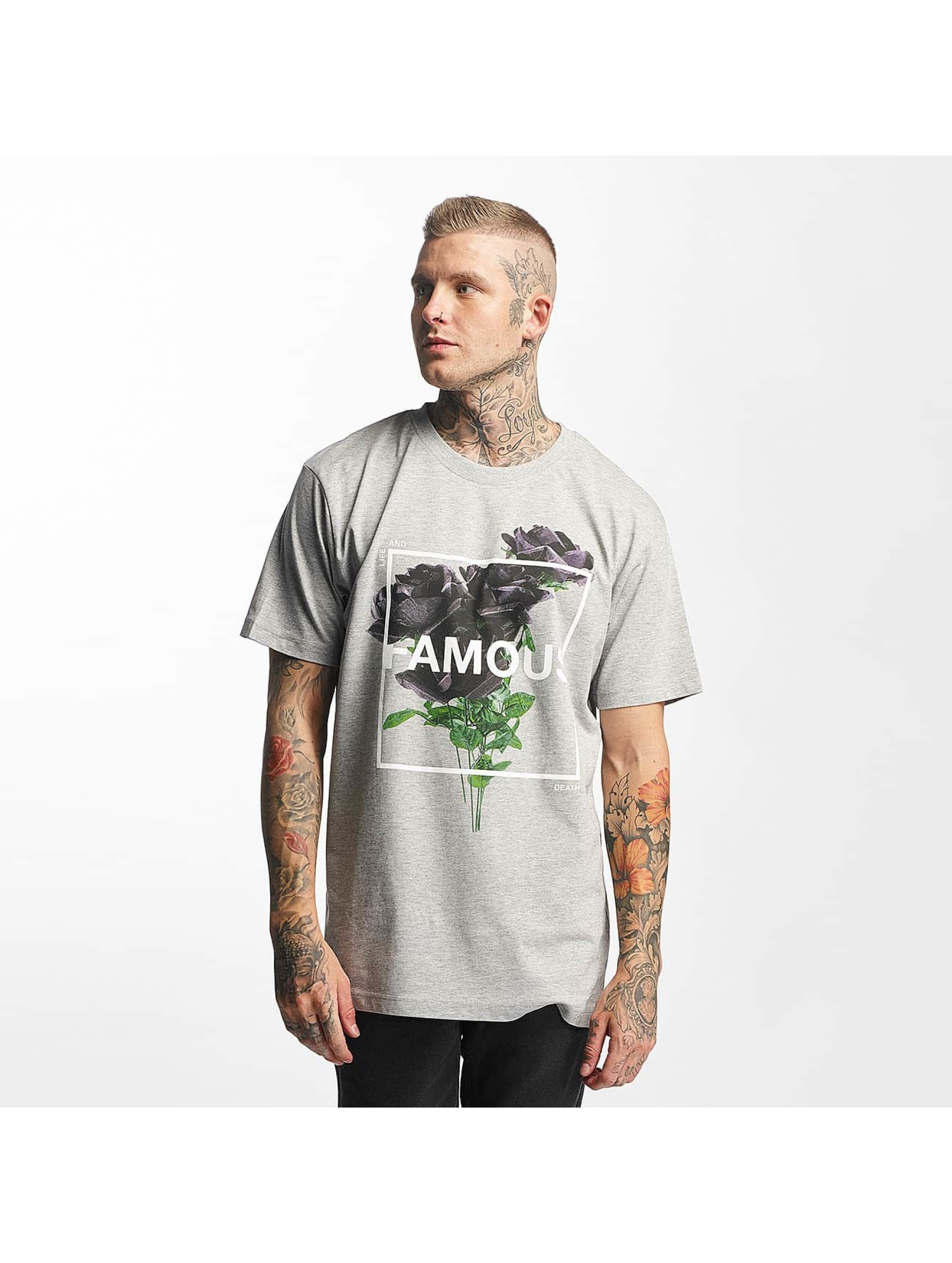 Famous Stars and Straps T-Shirty Life and Death szary