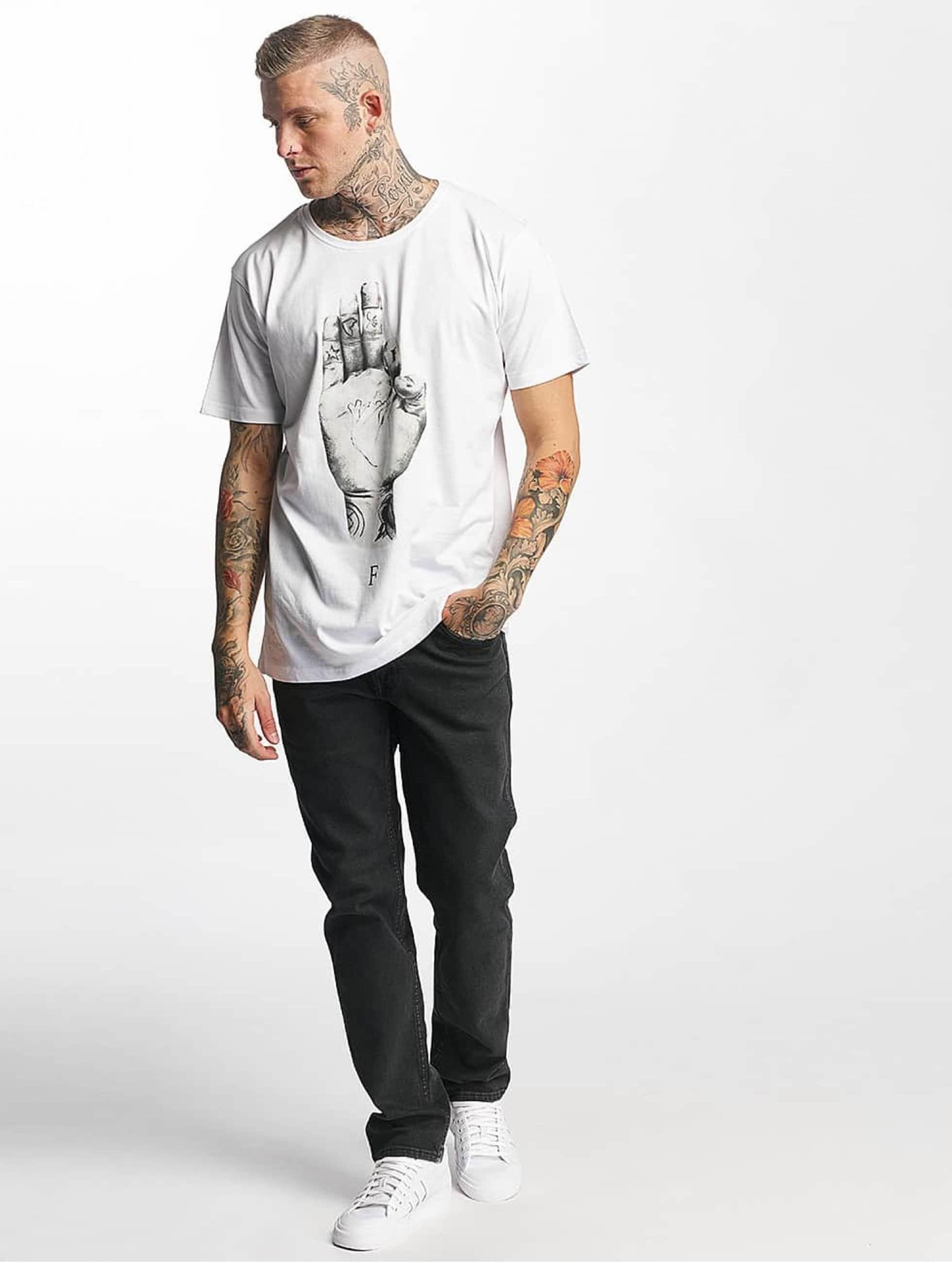 Famous Stars and Straps T-skjorter FMS Sign hvit