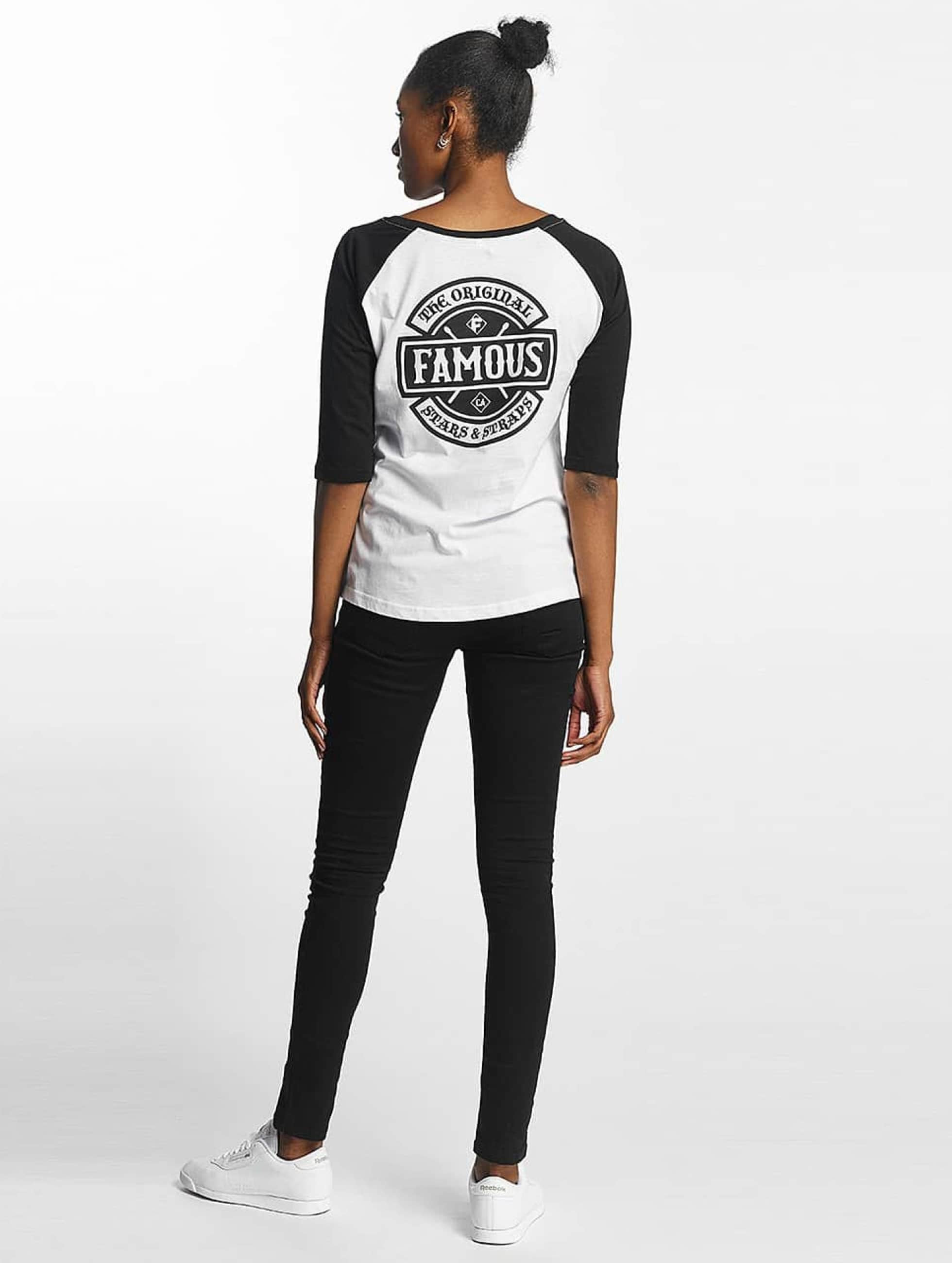 Famous Stars and Straps T-skjorter Chaos Patch Raglan hvit