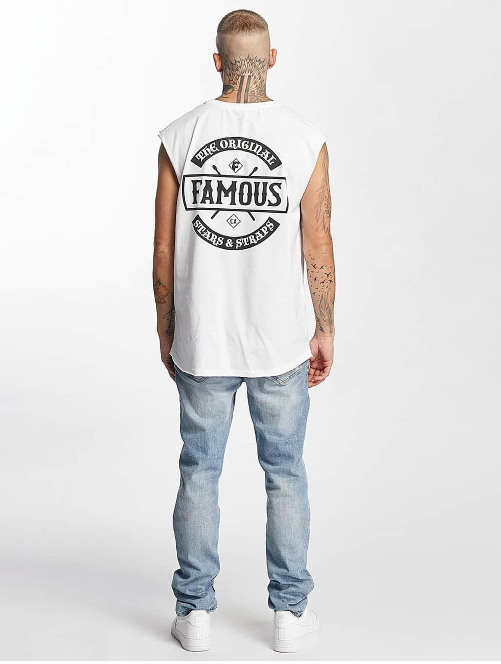 Famous Stars and Straps Tank Tops Chaos bianco