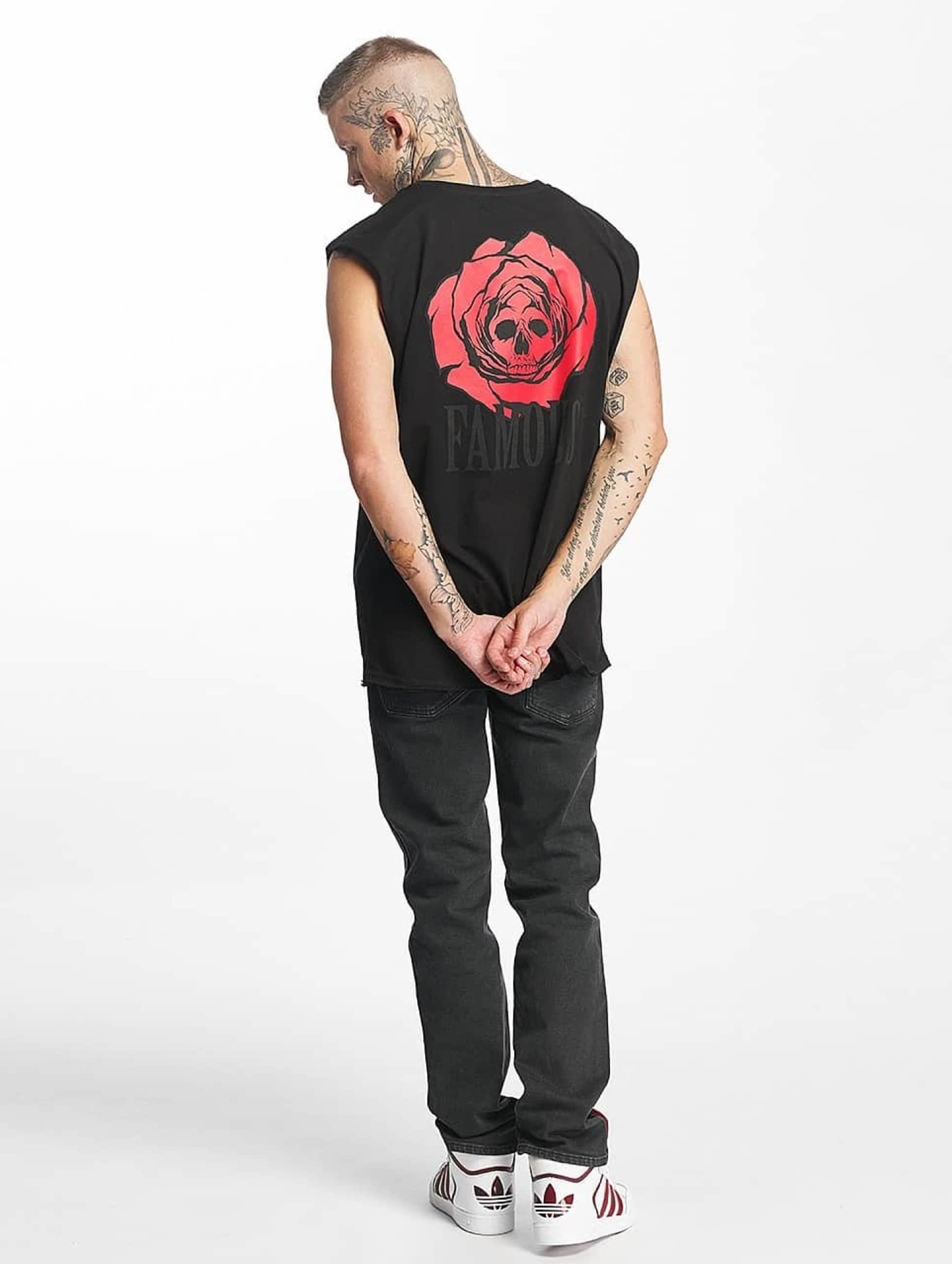 Famous Stars and Straps Tank Tops Deadrose svart