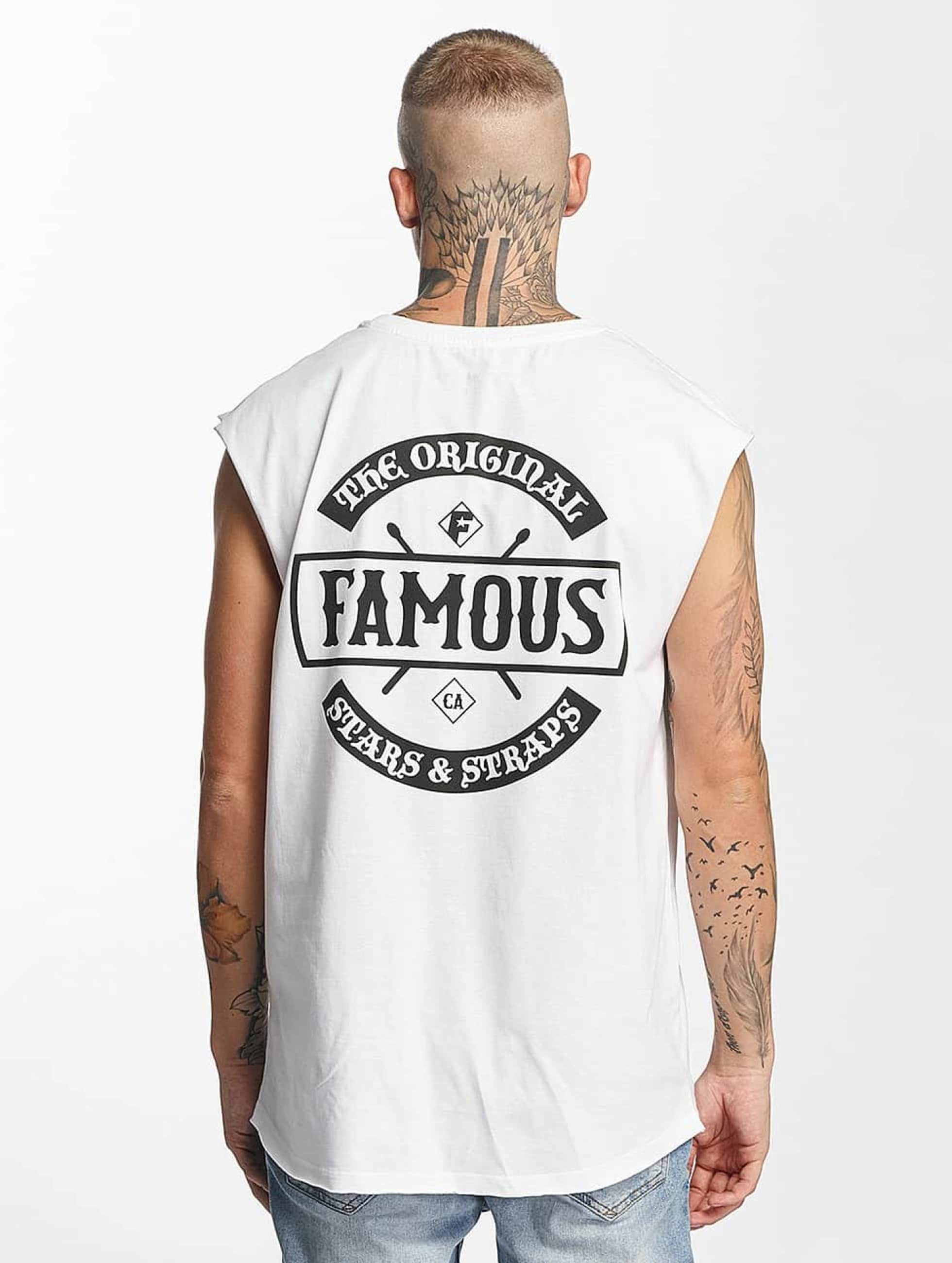 Famous Stars and Straps Tank Tops Chaos white