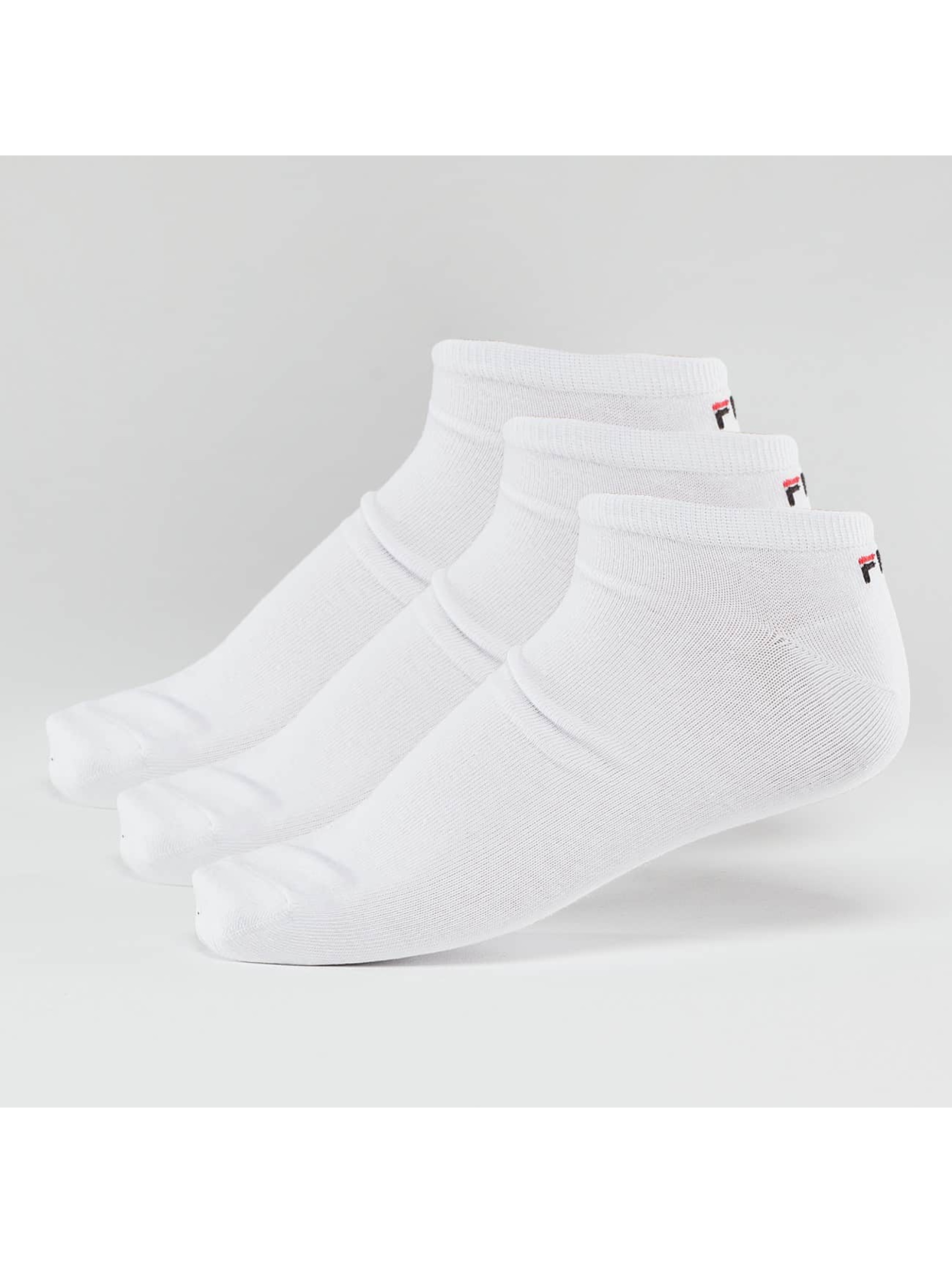 FILA Calcetines 3-Pack Invisible blanco