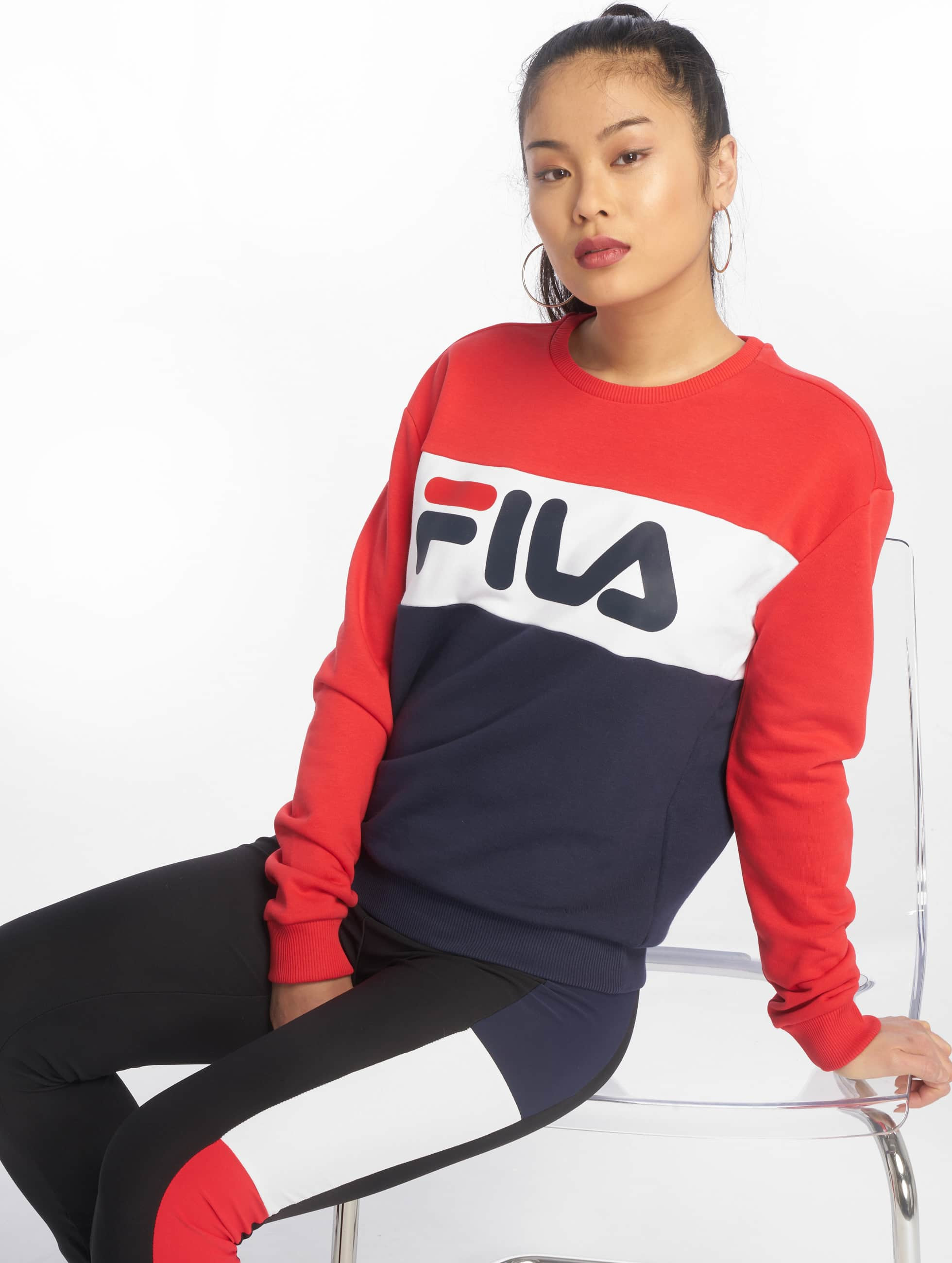 Fila Urban Line Leah Sweatshirt Black Iris/True Red/Bright White