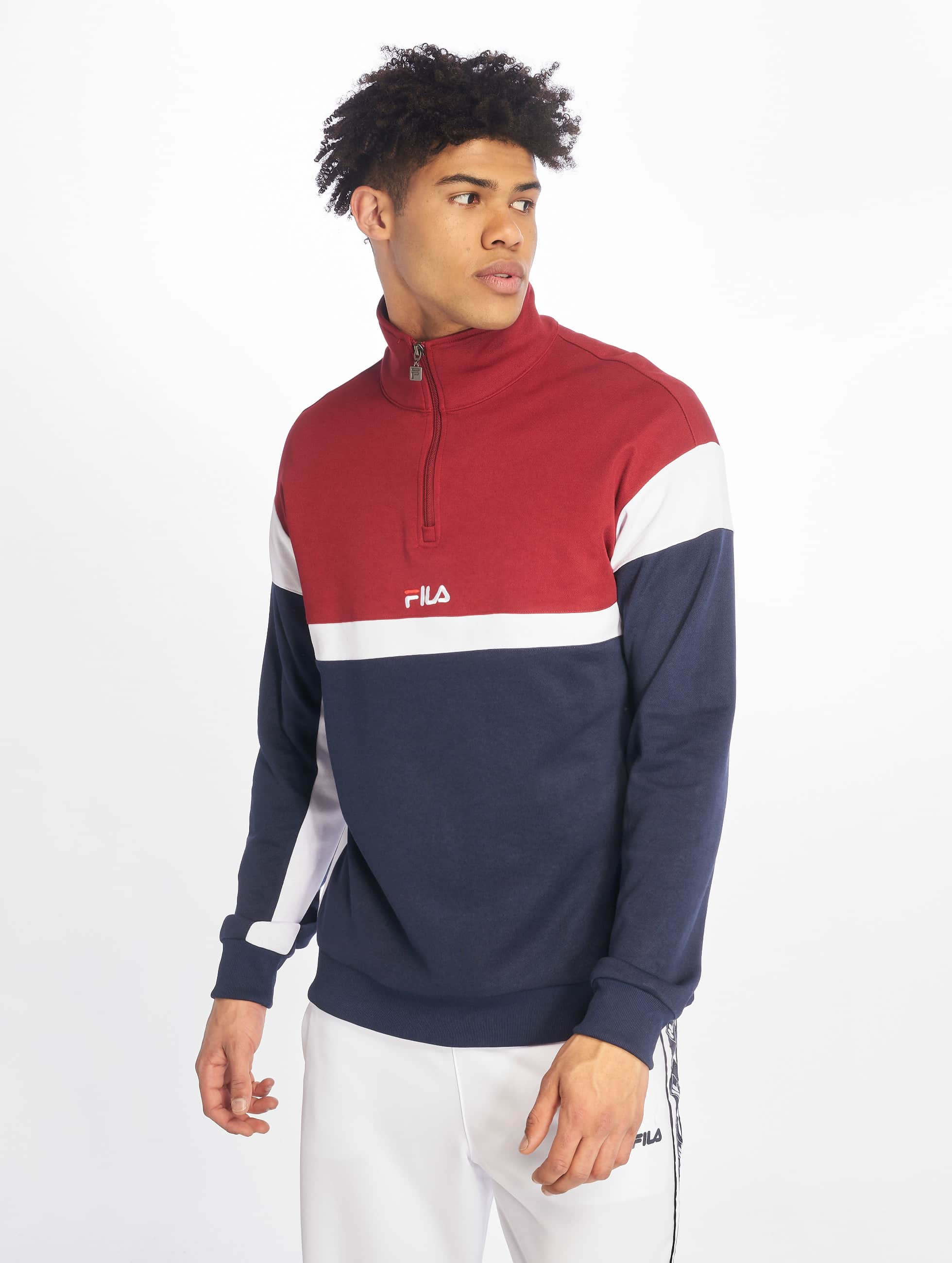 Fila Urban Line Half Zip Sweatshirt Black IrisRhubaBright White