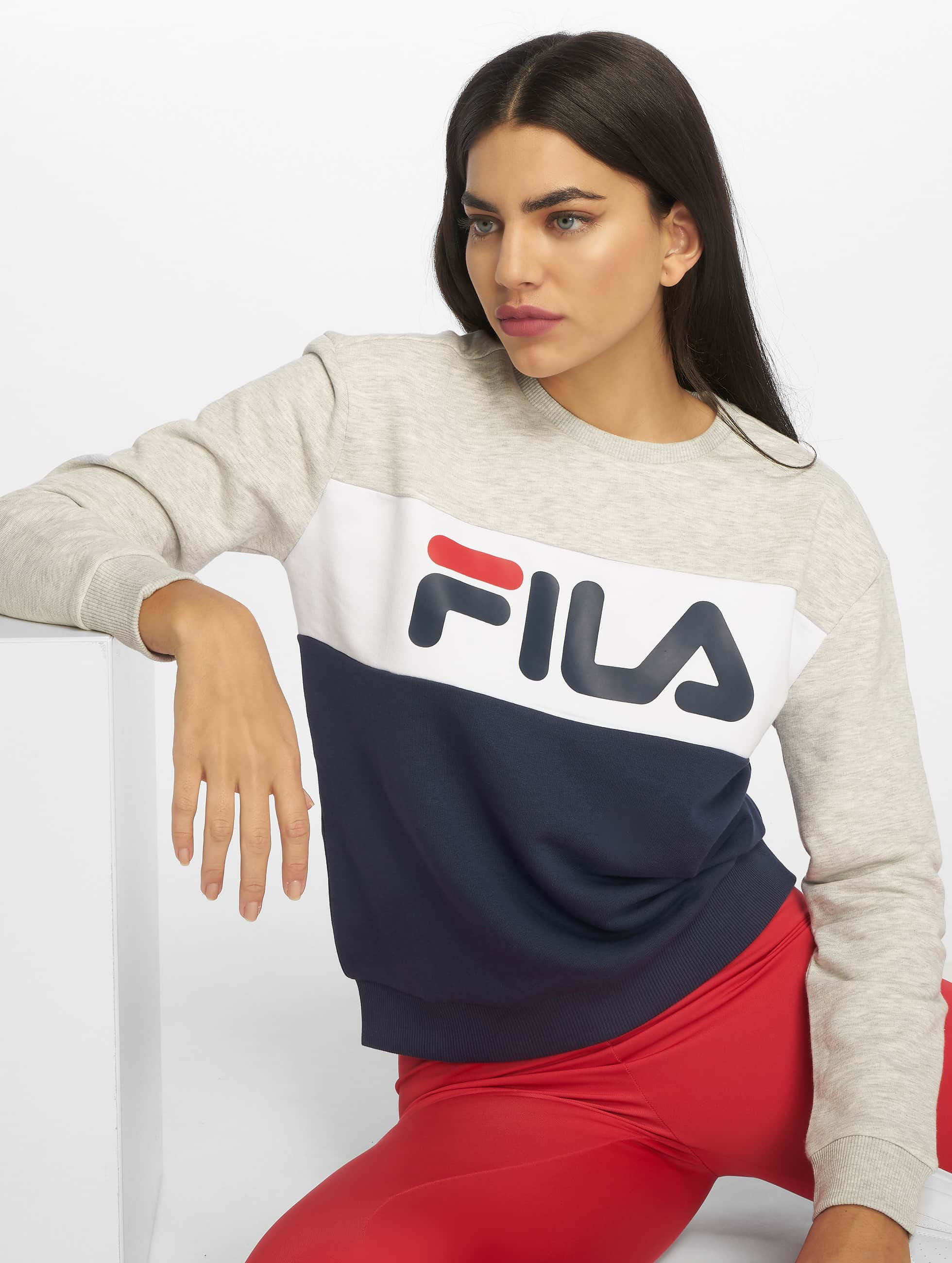 Fila Urban Line Leah Sweatshirt Black IrisLight GreyBright White