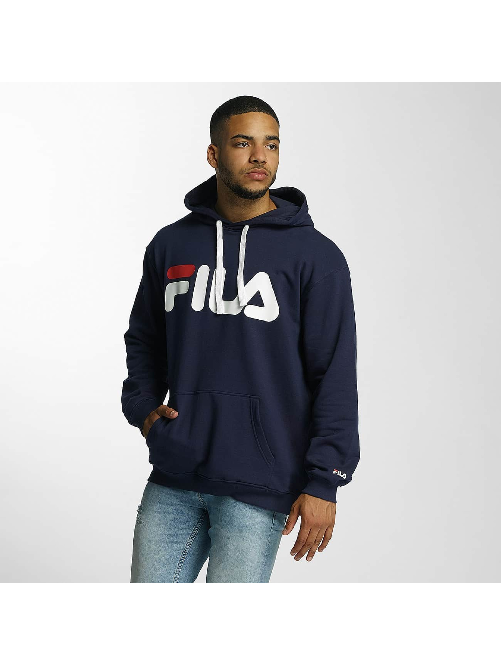 FILA Sweat capuche Urban Line Basic Classic Logo bleu