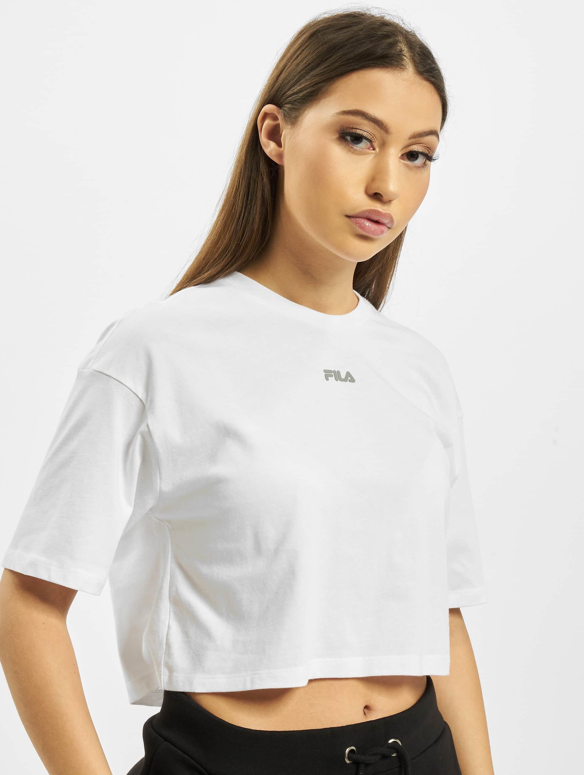 Fila Magola Oversized Cropped T Shirt Bright White