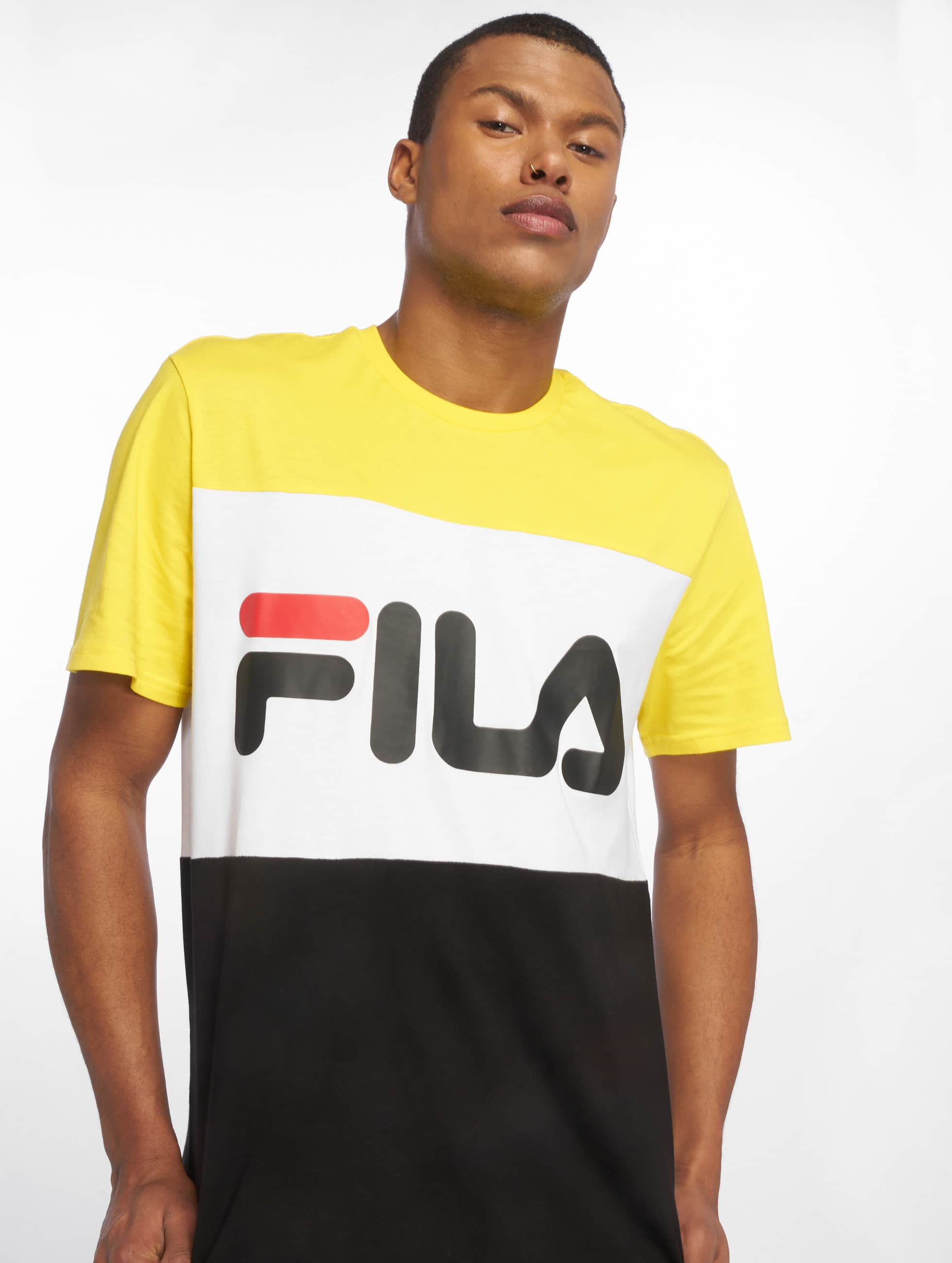 Fila Homme 681244A063 Jaune Coton T Shirt: