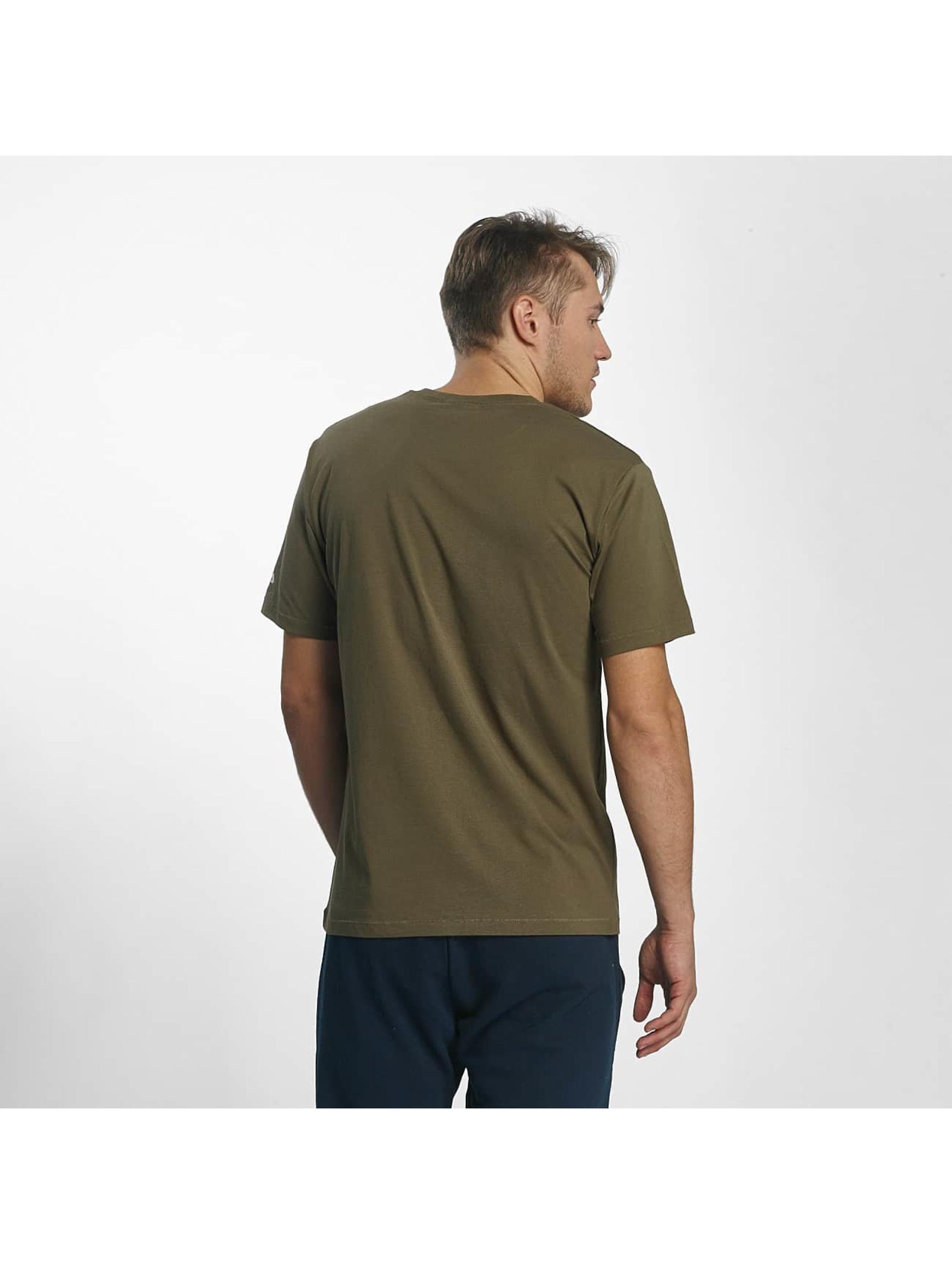 fila herren t shirt urban line classic logo in olive 381709. Black Bedroom Furniture Sets. Home Design Ideas