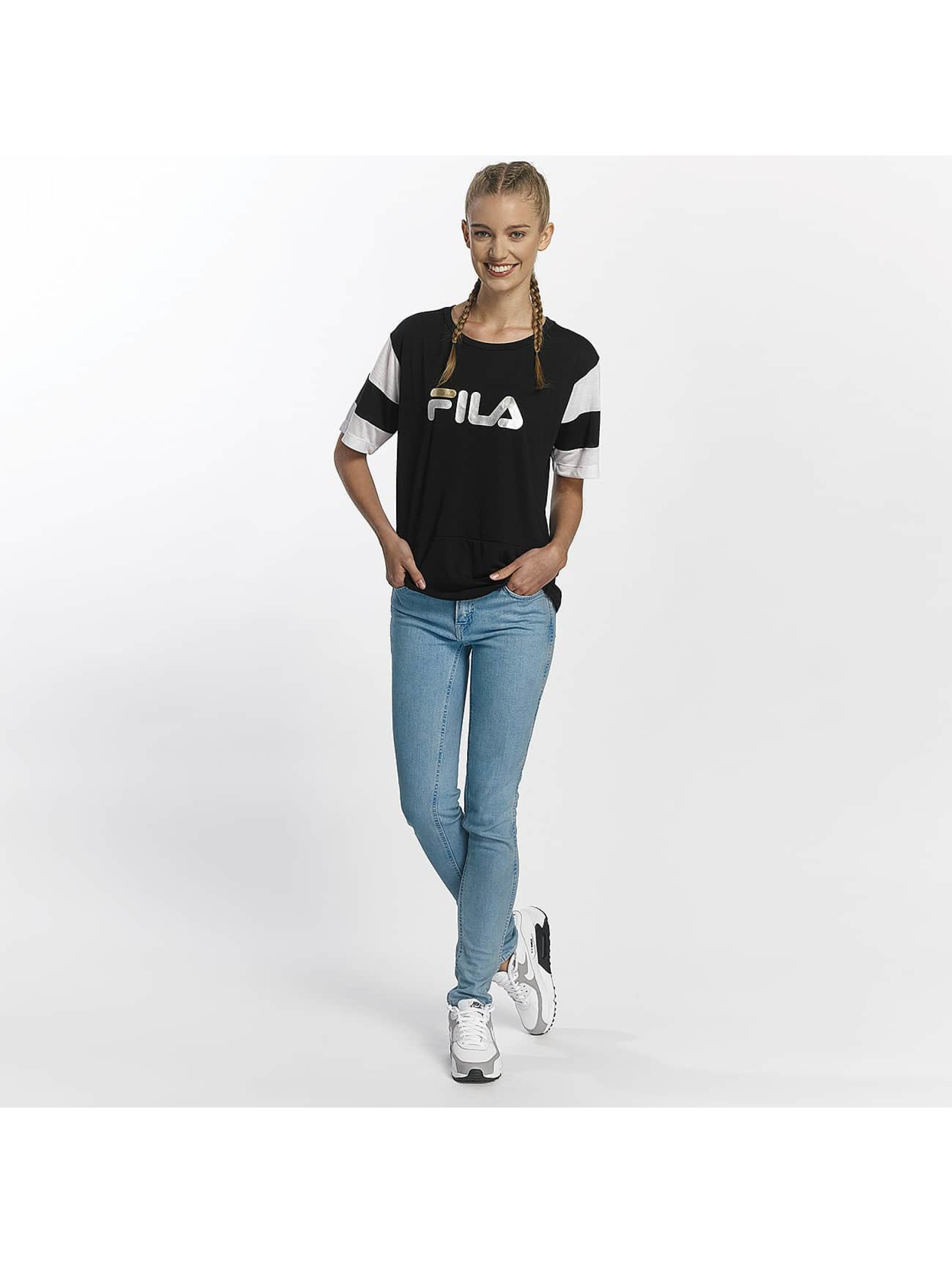 FILA T-Shirty Petite Isao Blocked czarny
