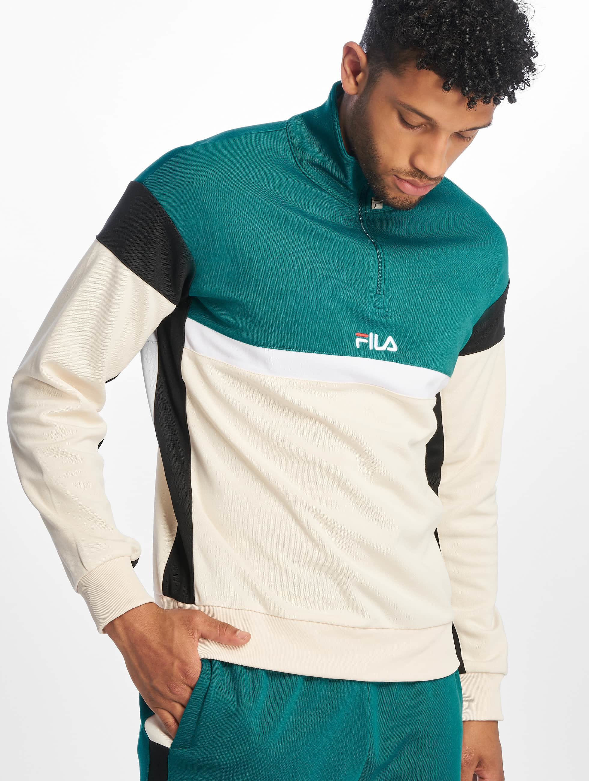 Fila Urban Line Herron Half Zip Sweatshirt Shaded SpruceBlackWhitecap Grey