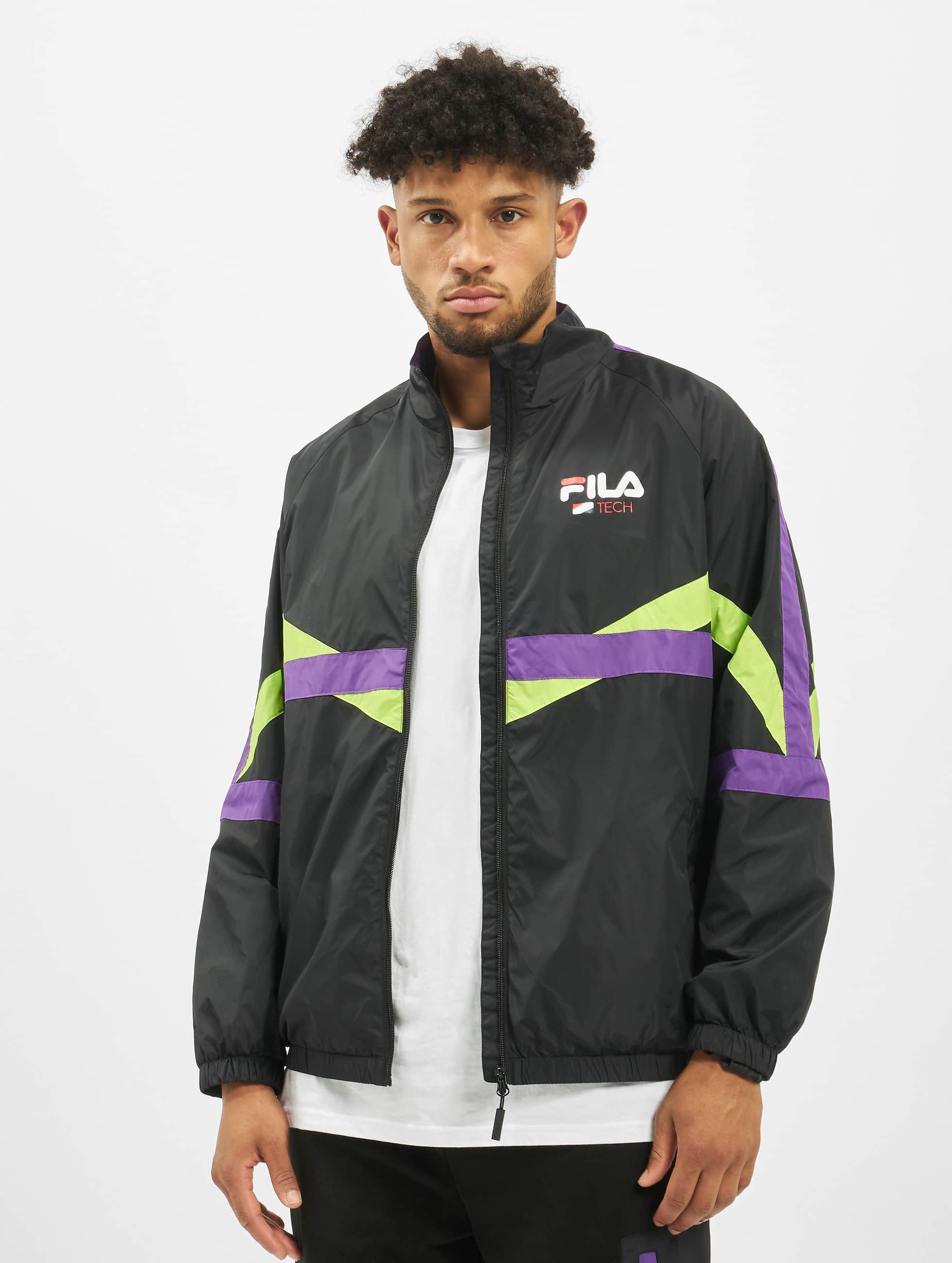 Fila Urban Line Reign Track Jacket BlackTillandsia PurpleAcid Lime