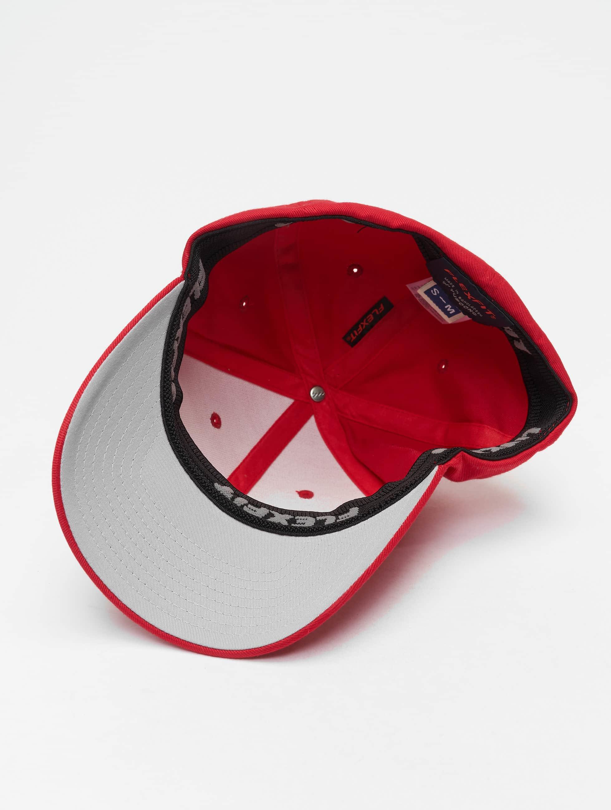Flexfit Бейсболкa Flexfit Wooly Combed красный