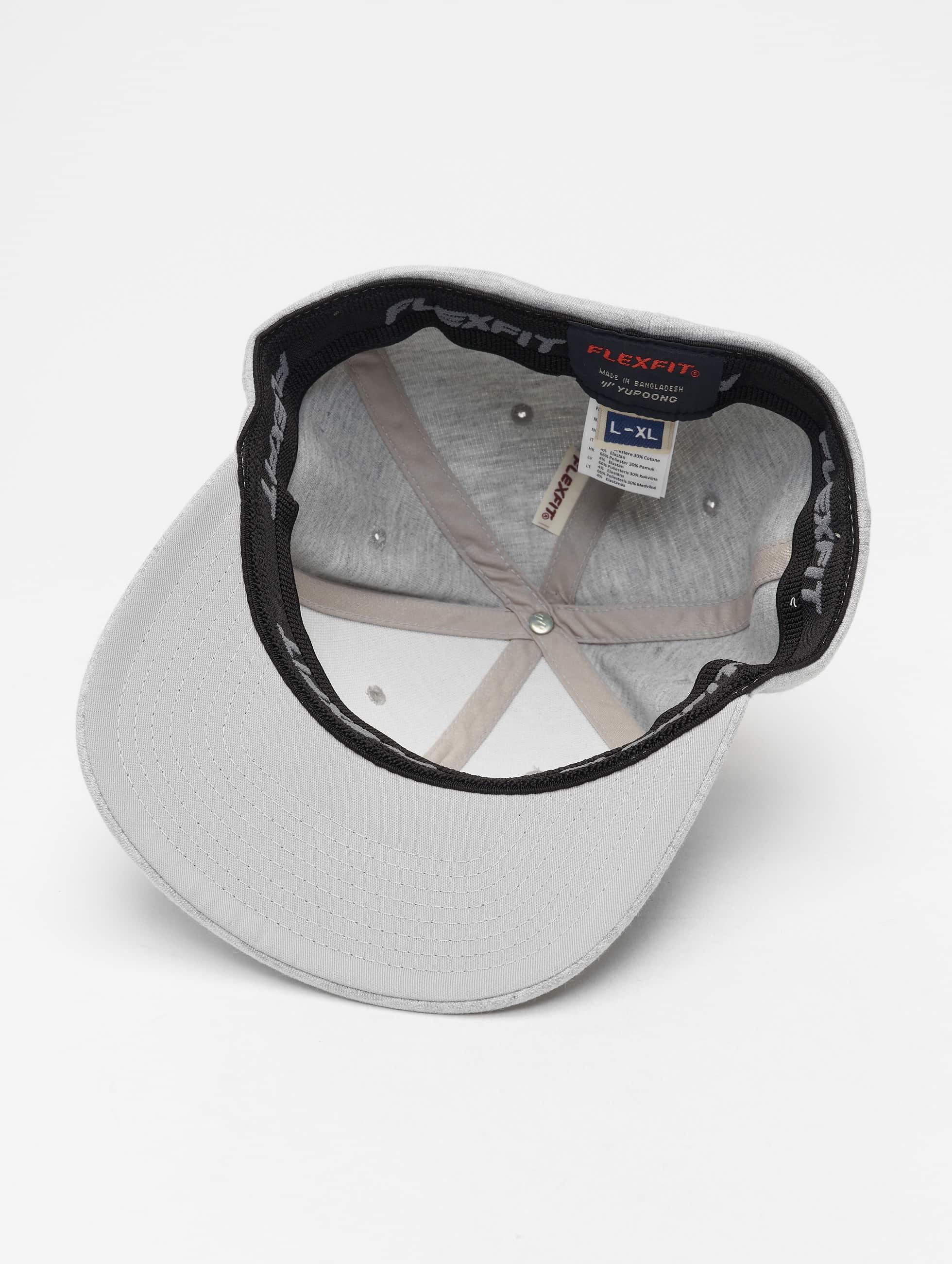 Flexfit Бейсболкa Flexfit Double Jersey серый