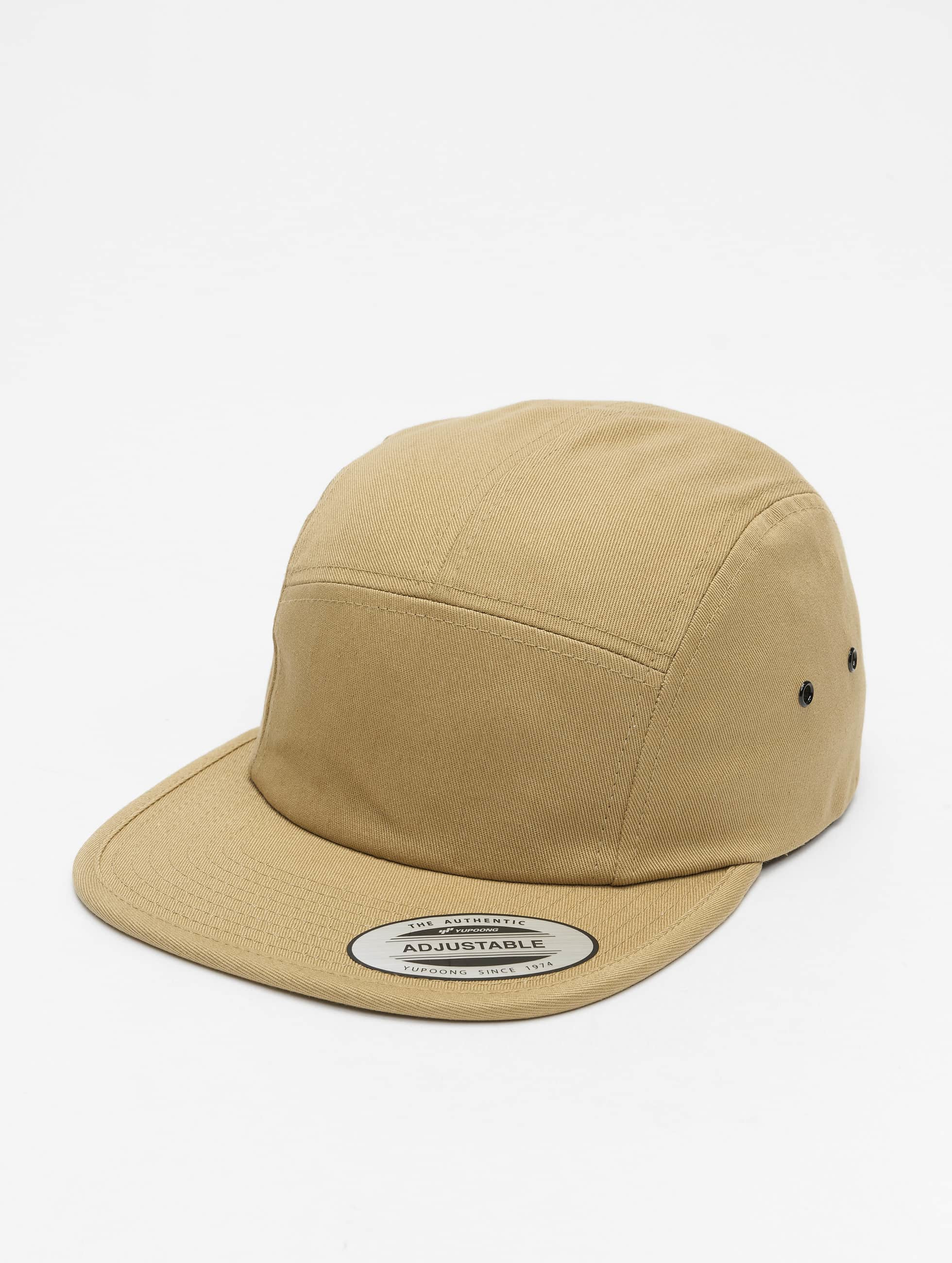 Flexfit 5 Panel Caps Classic Jockey khaki
