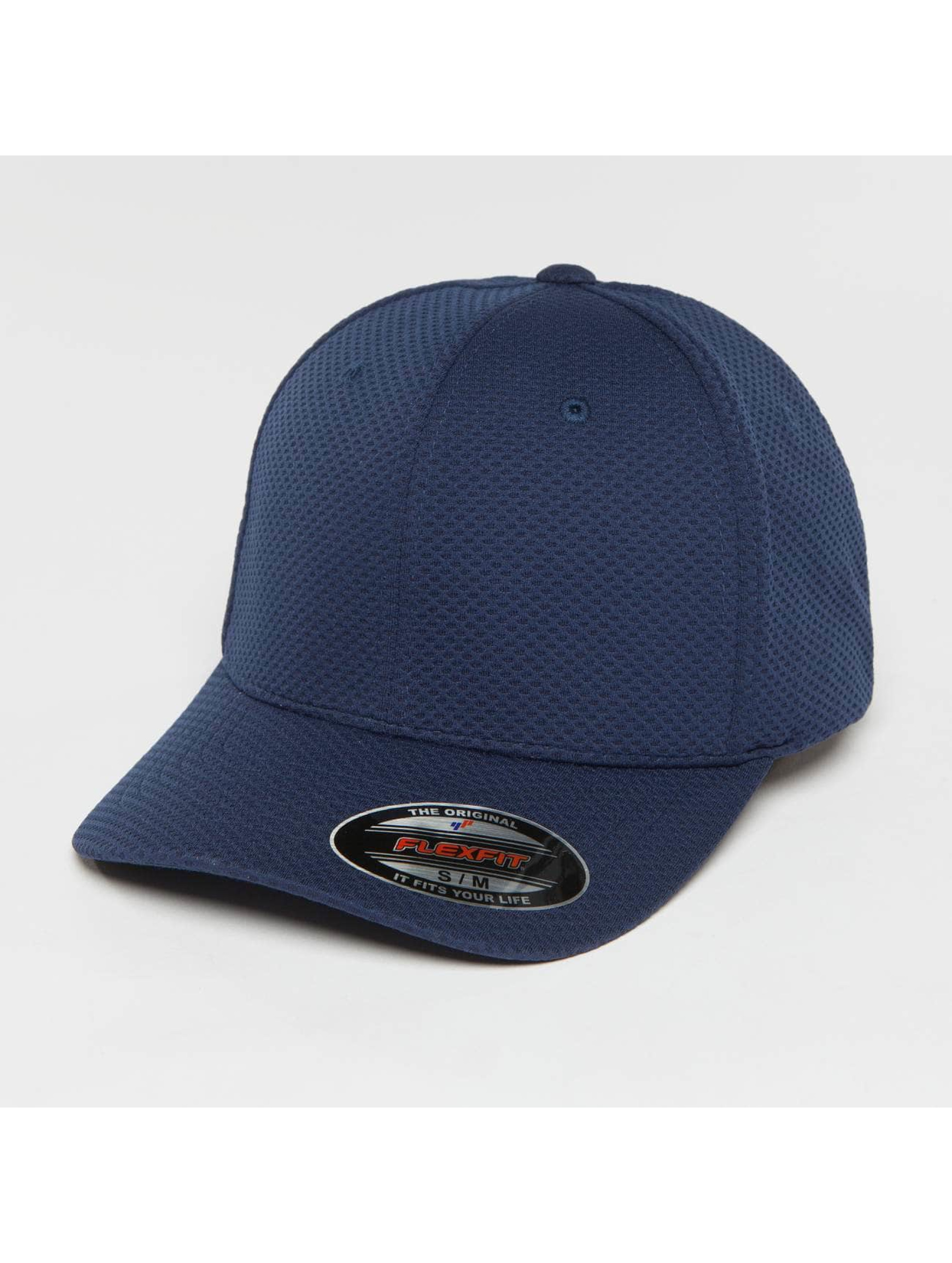 Flexfit Casquette Flex Fitted 3D Hexagon bleu