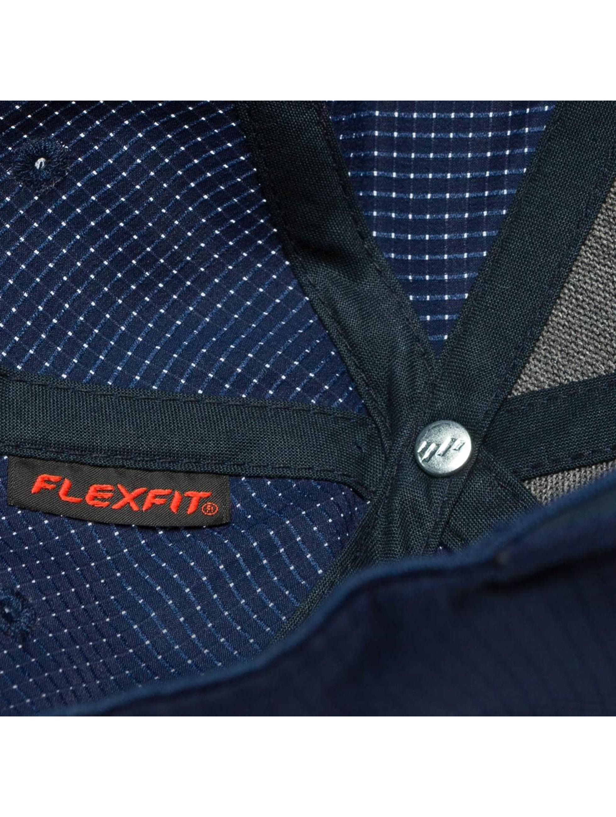 Flexfit Casquette Flex Fitted Hydro-Grid bleu