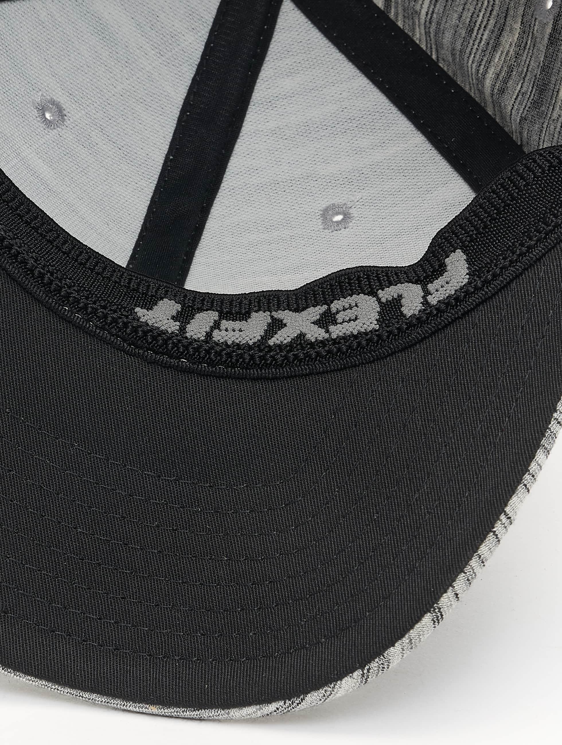 Flexfit Casquette Flex Fitted Spripes Melange gris