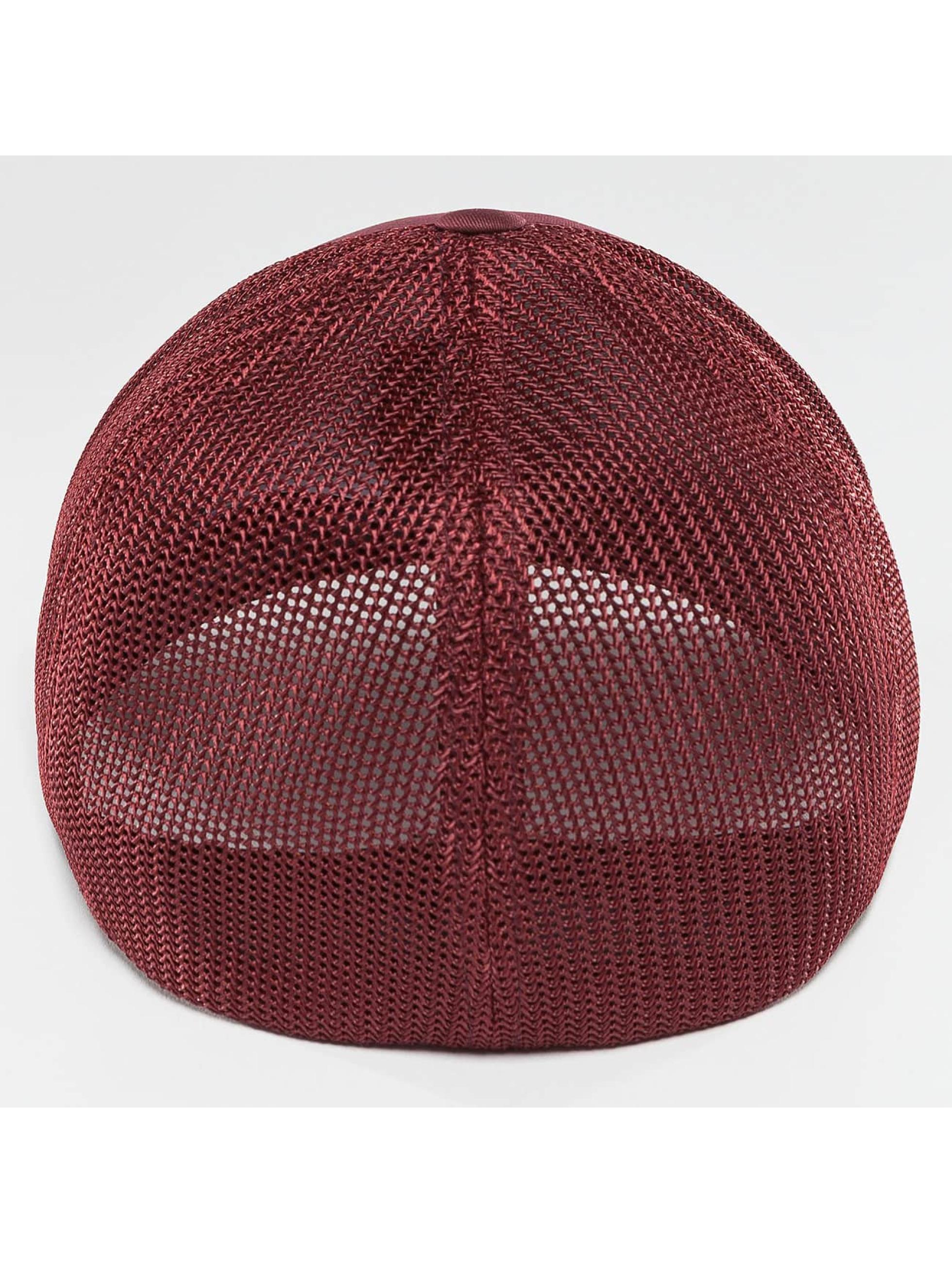Flexfit Casquette Flex Fitted Mesh Cotton Twill rouge