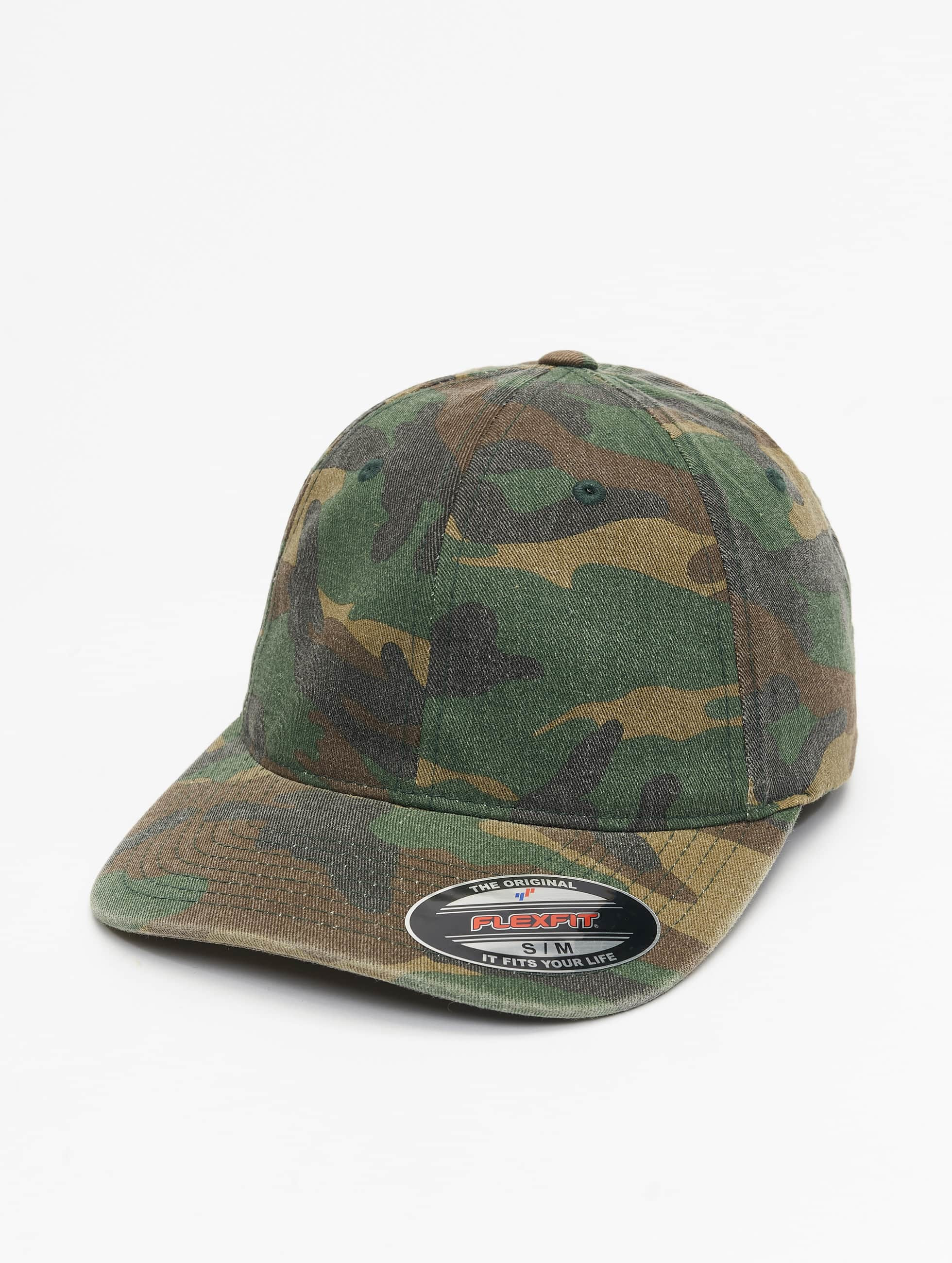 Flexfit Casquette Flex Fitted Garment Washed Camo vert