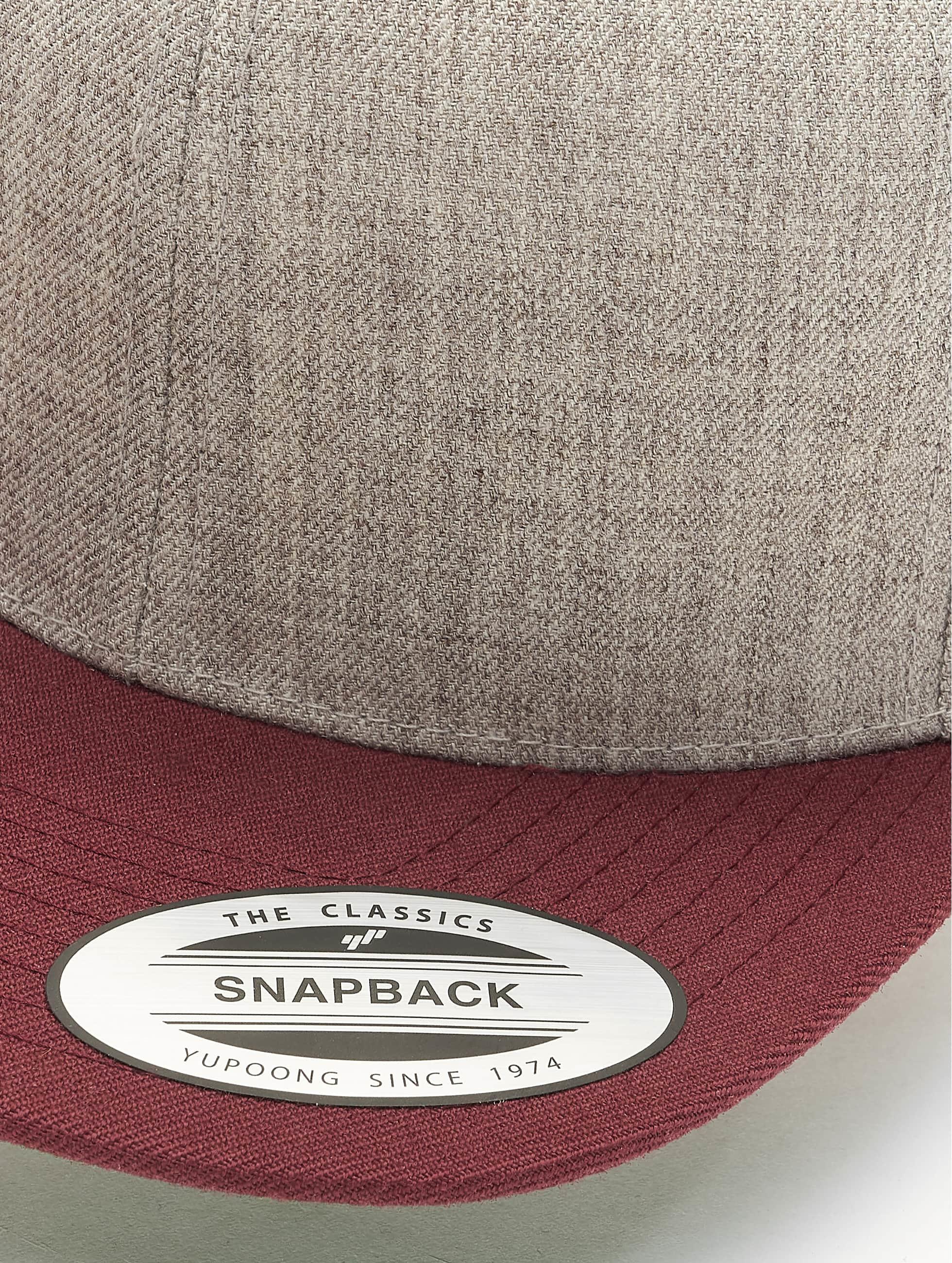 Flexfit Casquette Snapback & Strapback Classic Two Tone gris