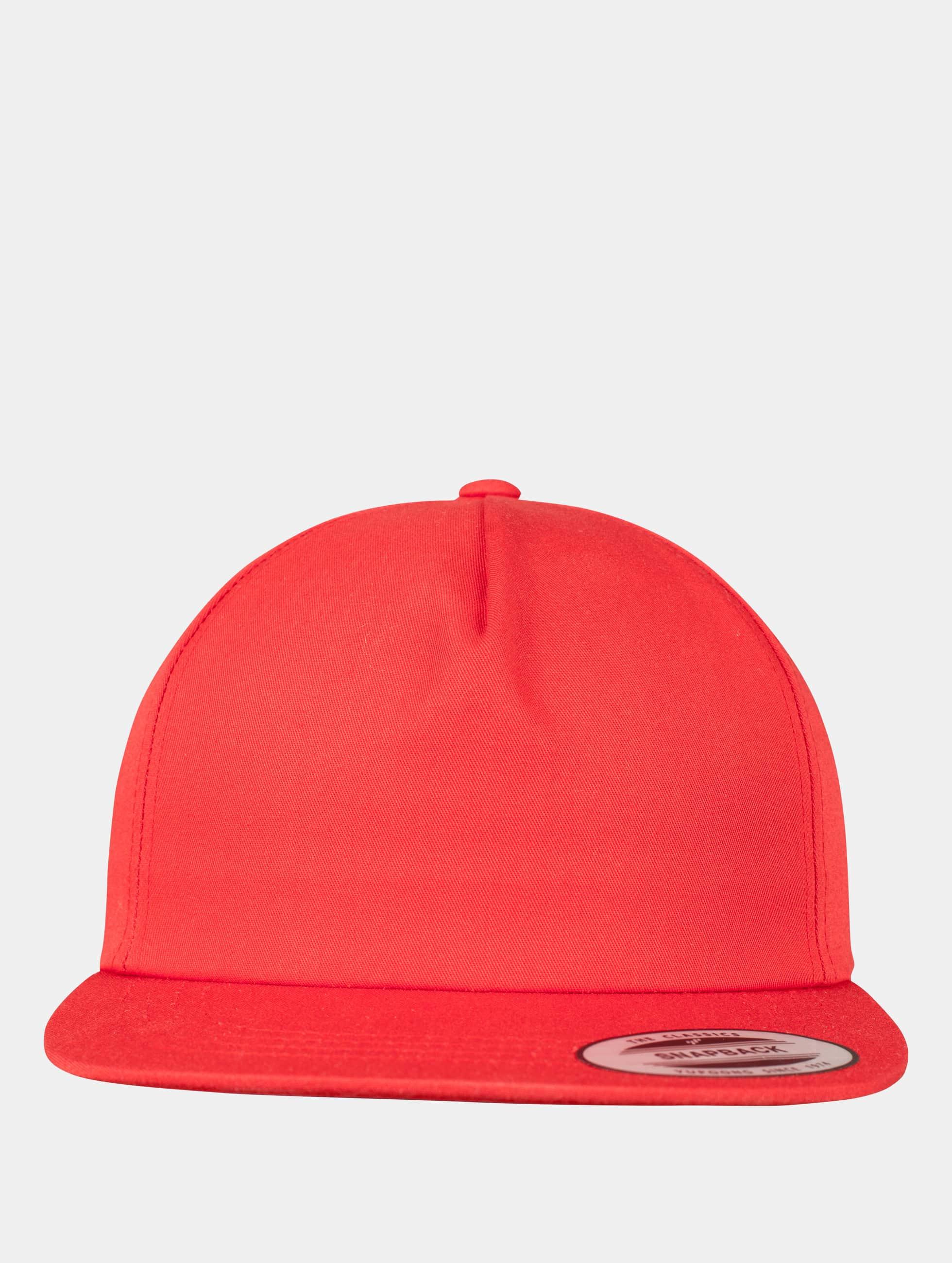 Flexfit Casquette Snapback & Strapback Unstructured rouge