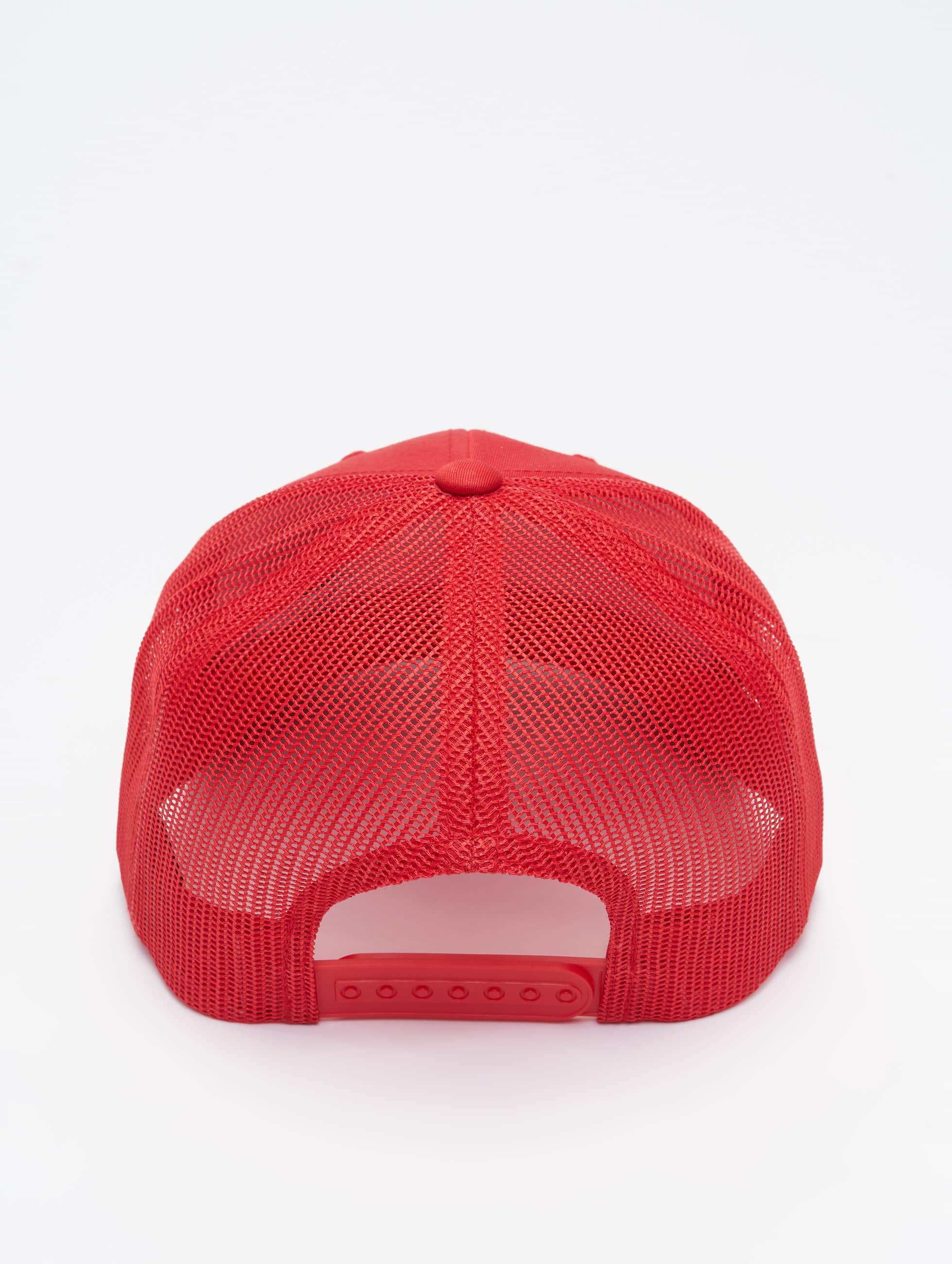 Flexfit Casquette Trucker mesh Retro rouge