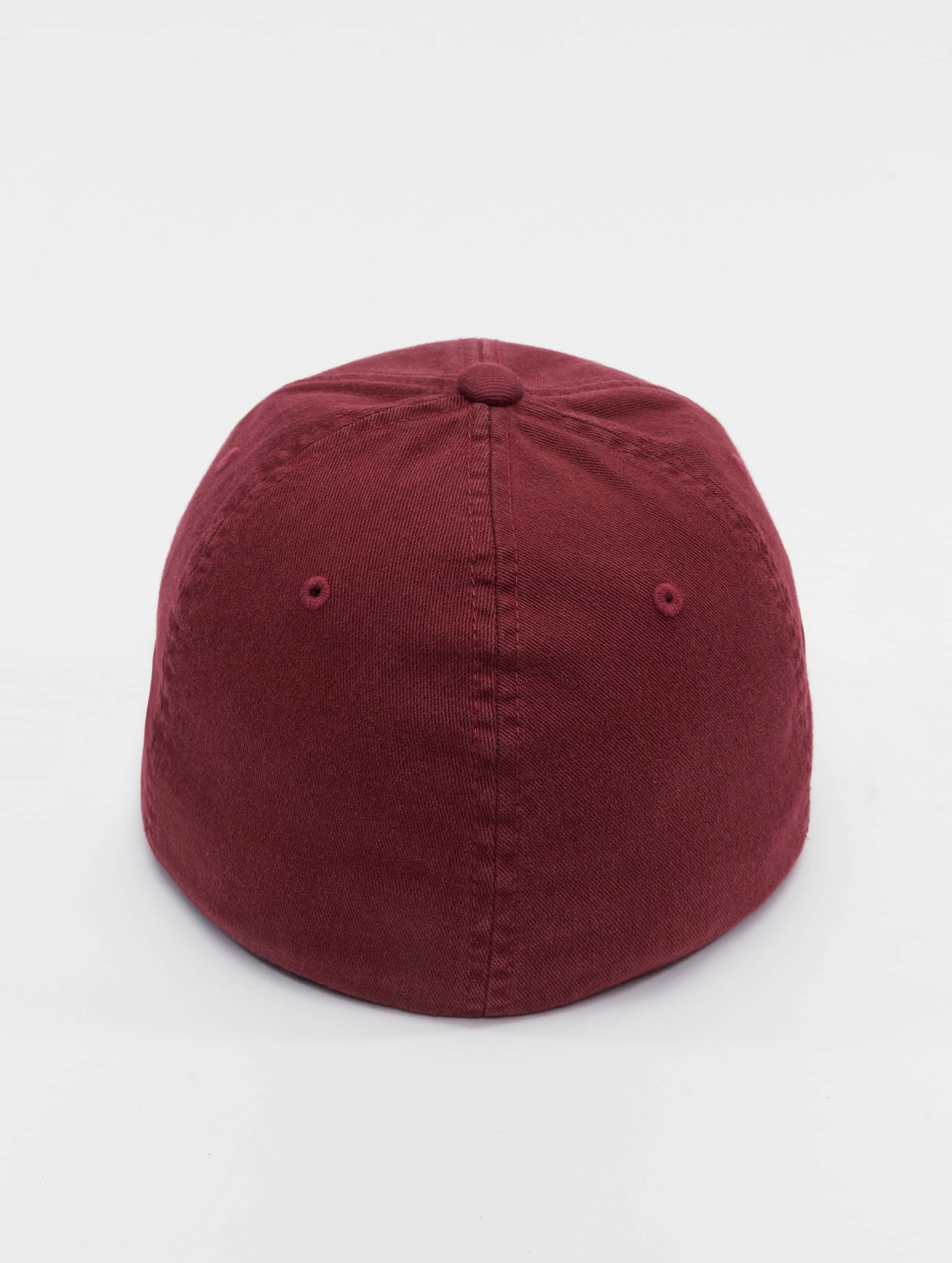 Flexfit Flexfitted Cap Garment Washed Cotton Dat èervená