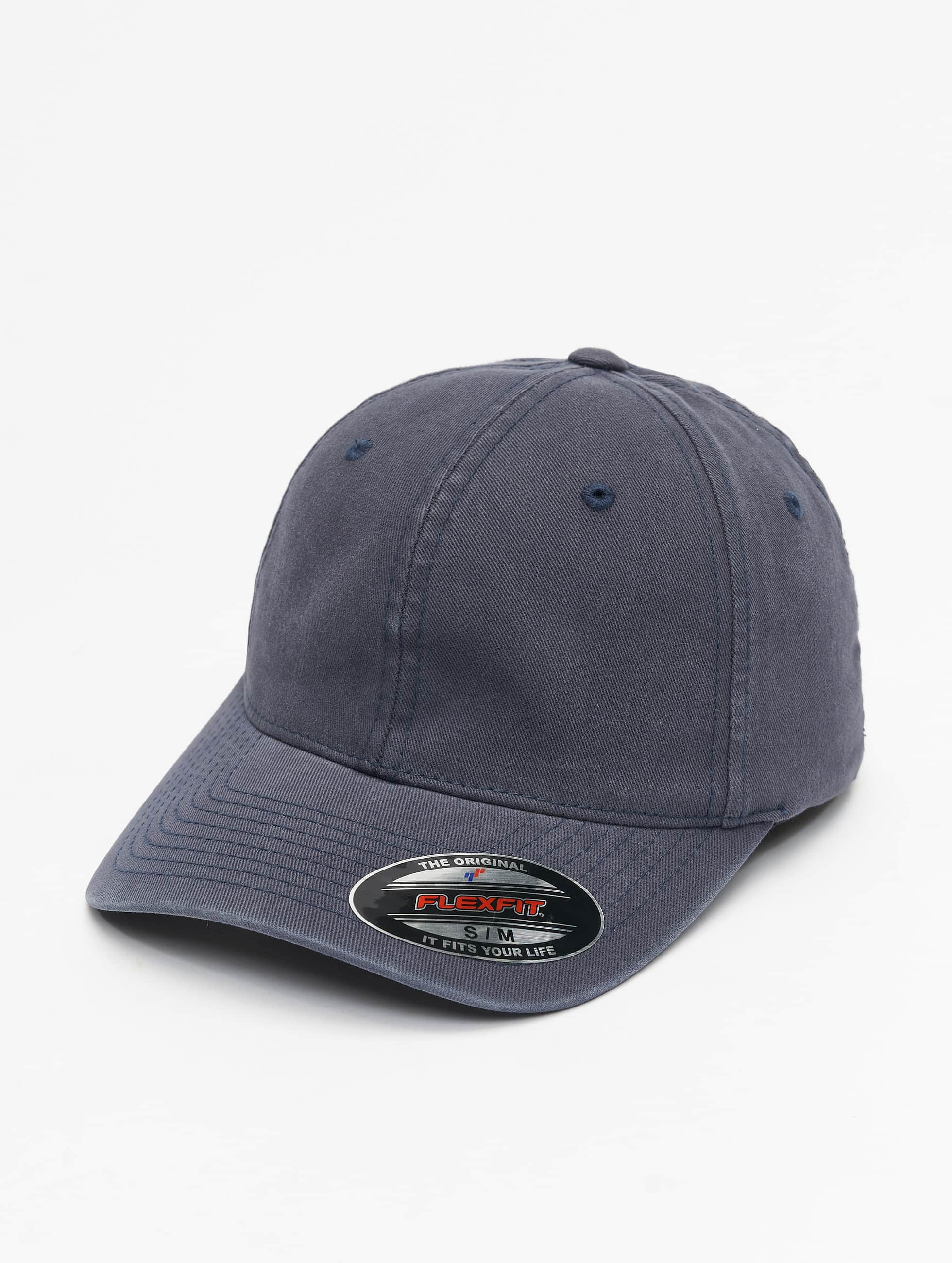 Flexfit Flexfitted Cap Garment Washed Cotton Dat blauw