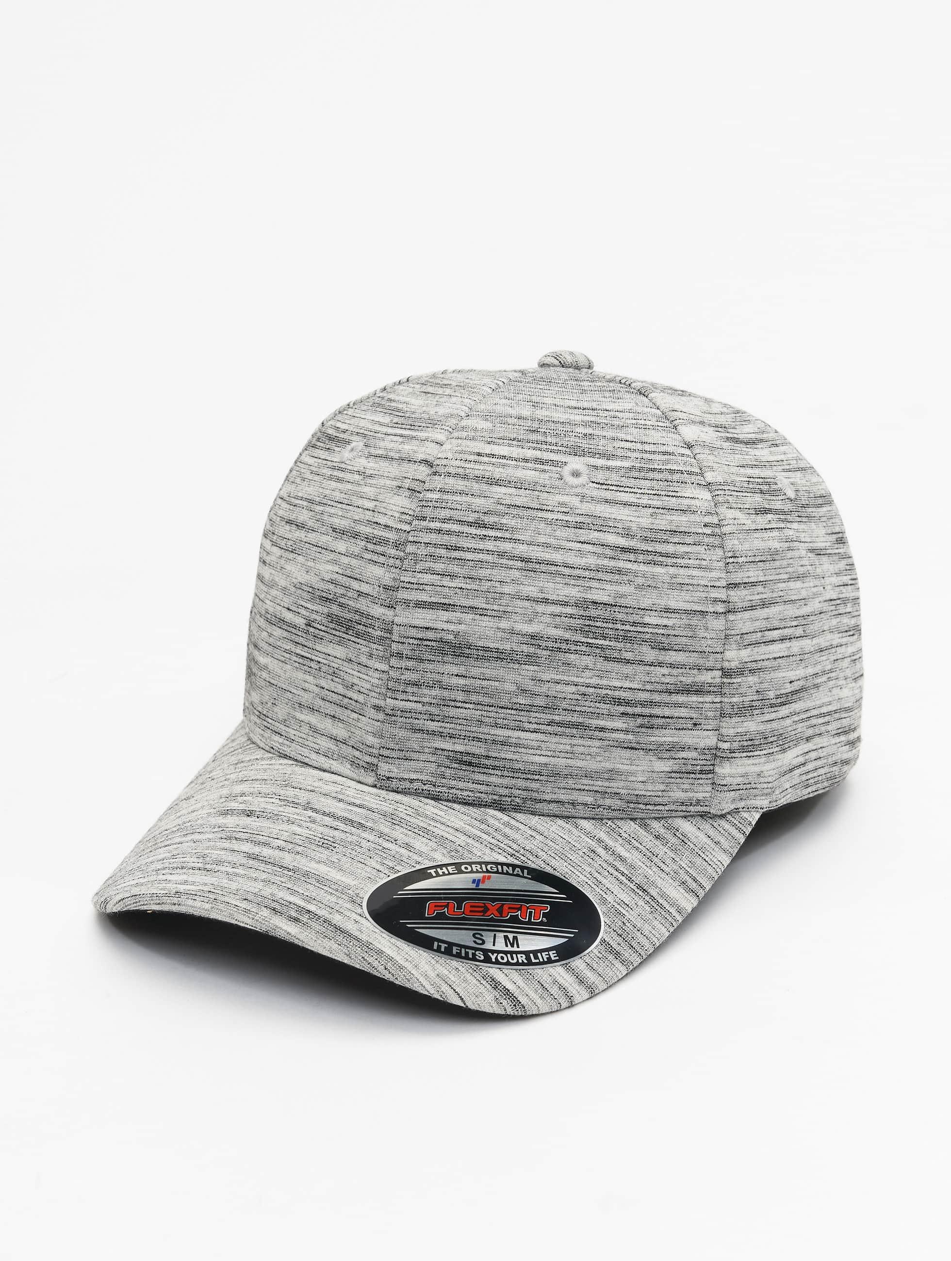 Flexfit Flexfitted Cap Spripes Melange grau