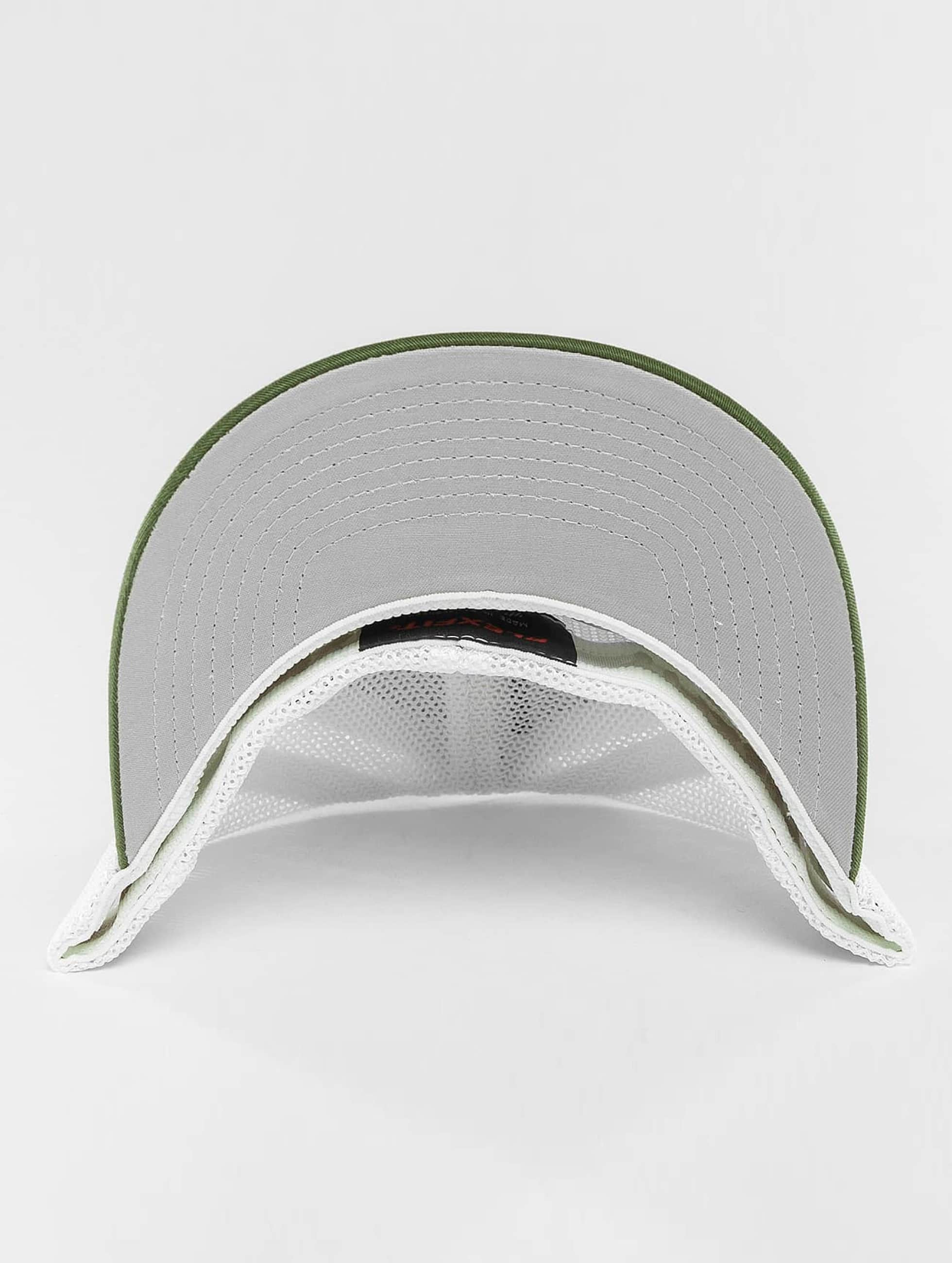 Flexfit Flexfitted Cap Mesh Cotton Twill Two Tone olijfgroen