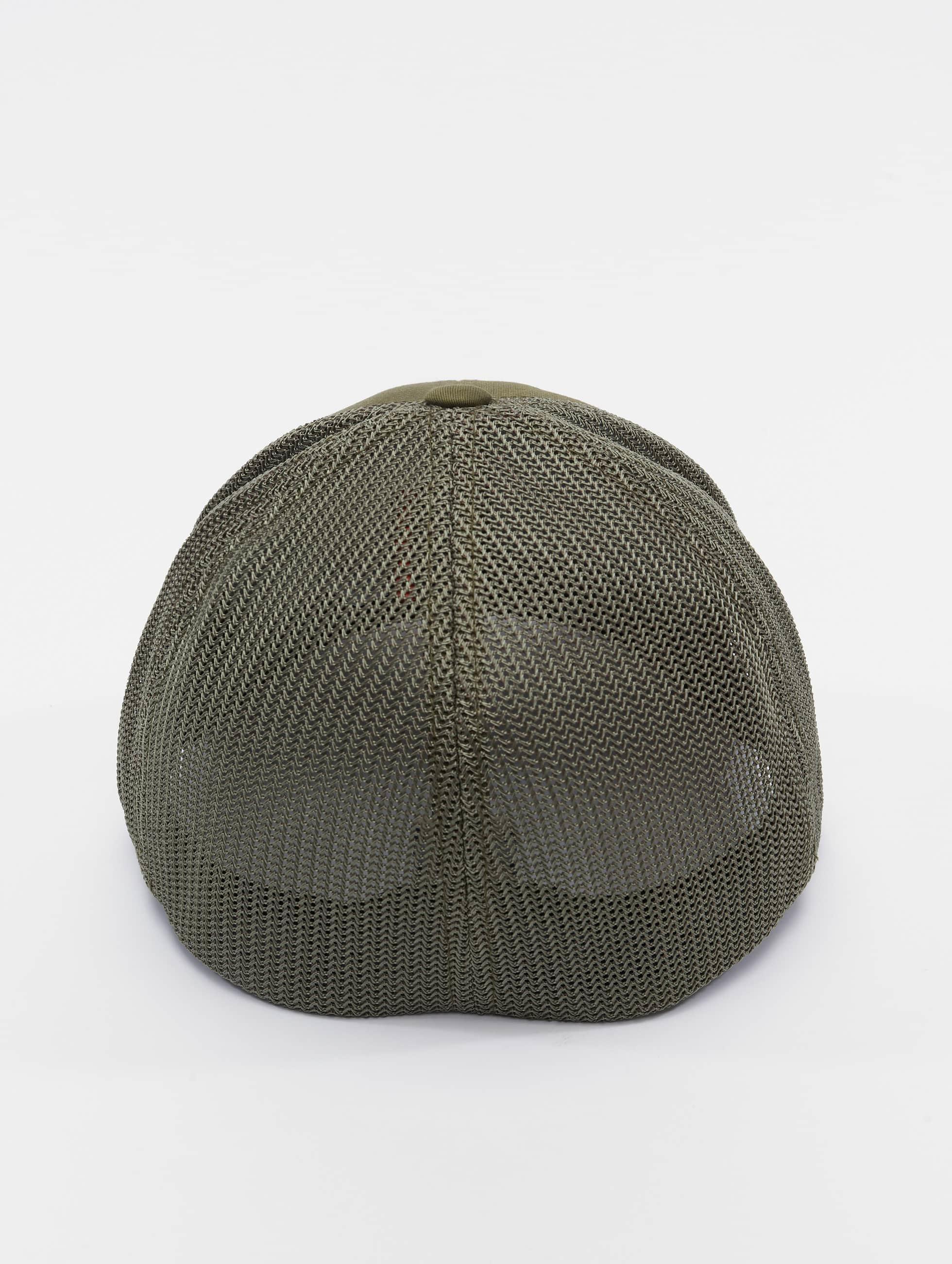 Flexfit Flexfitted Cap Mesh Cotton Twill olijfgroen
