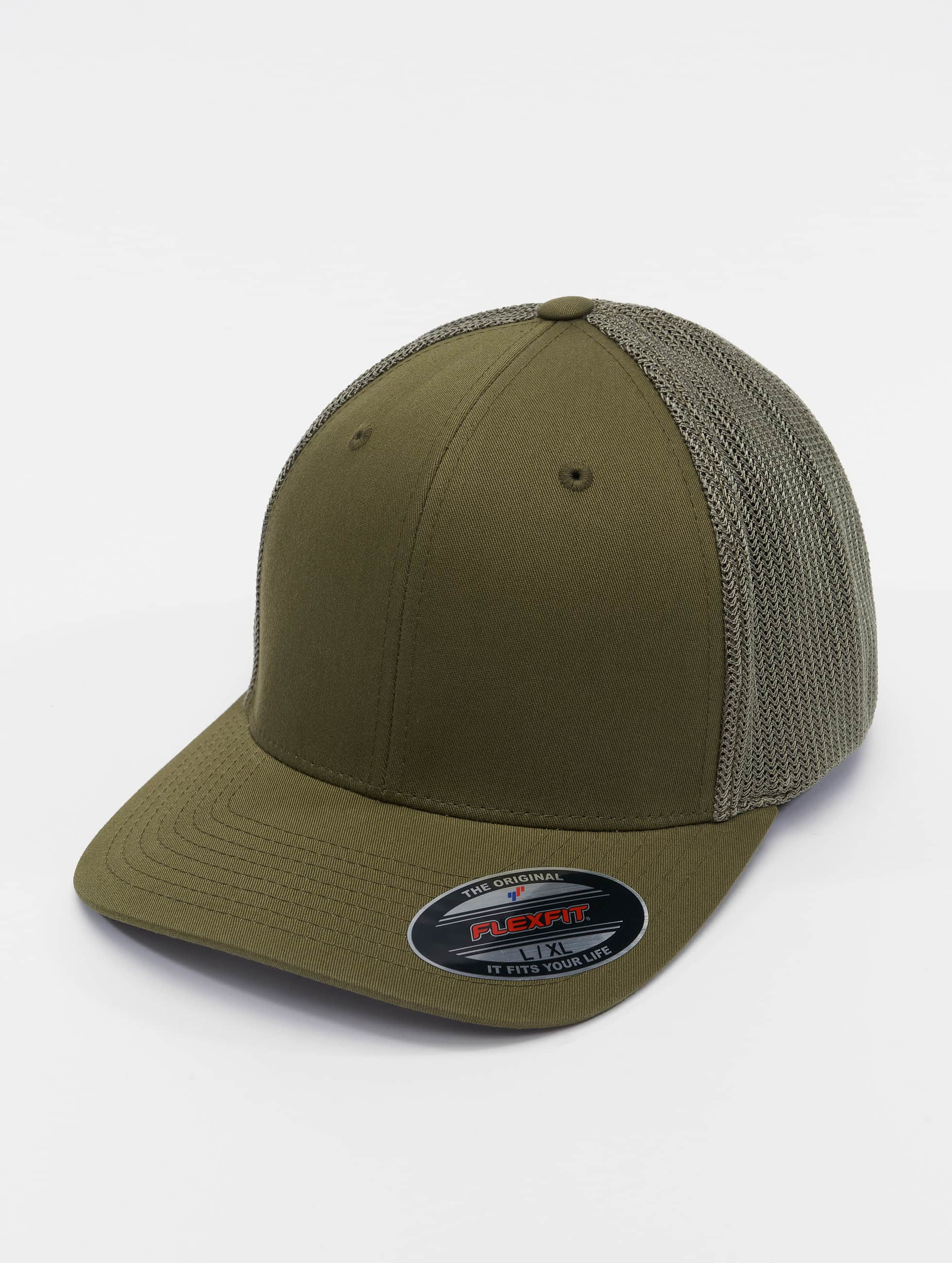 Flexfit Flexfitted Cap Mesh Cotton Twill olivový