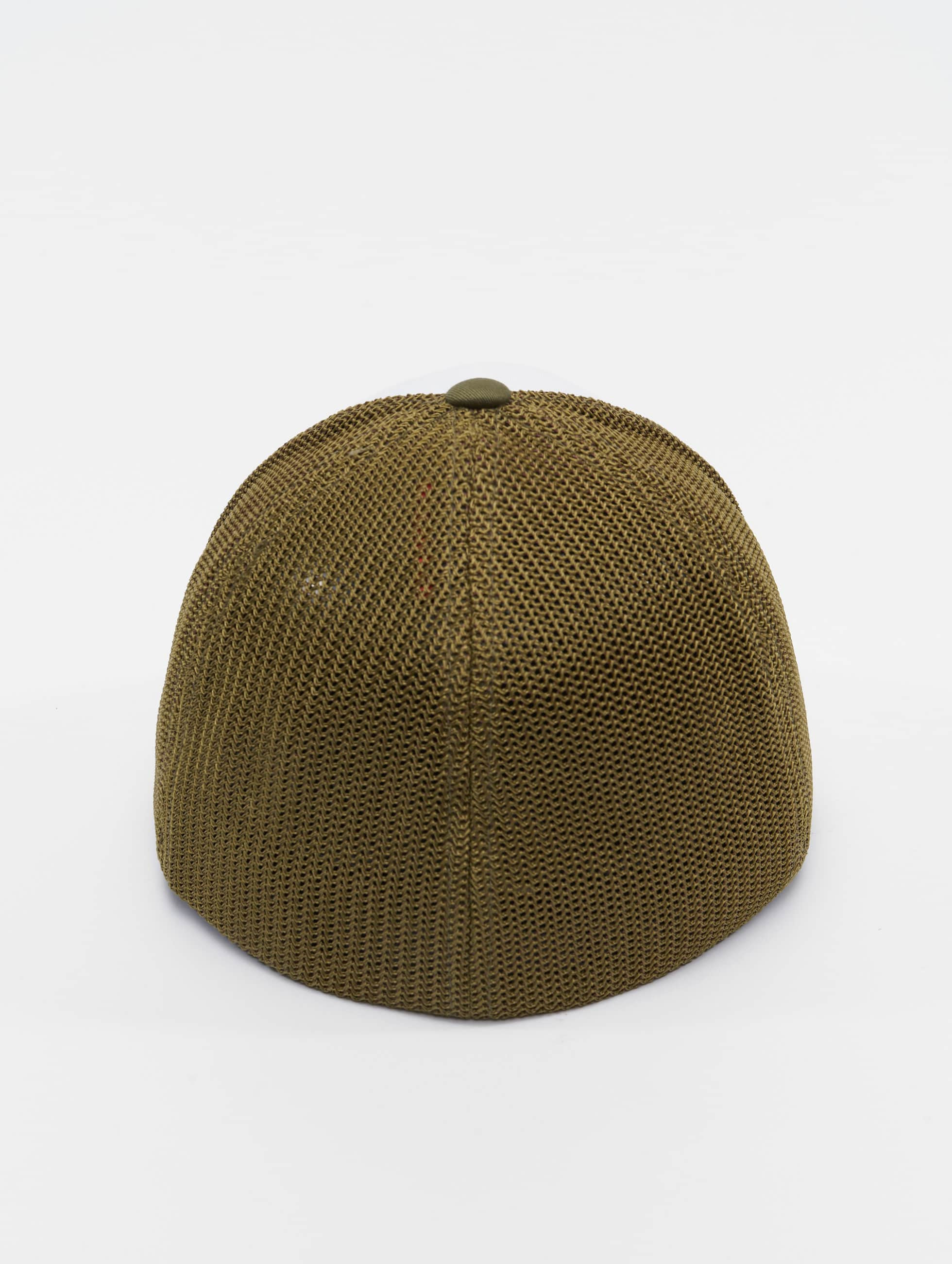 Flexfit Flexfitted Cap Mesh Colored Front oliwkowy