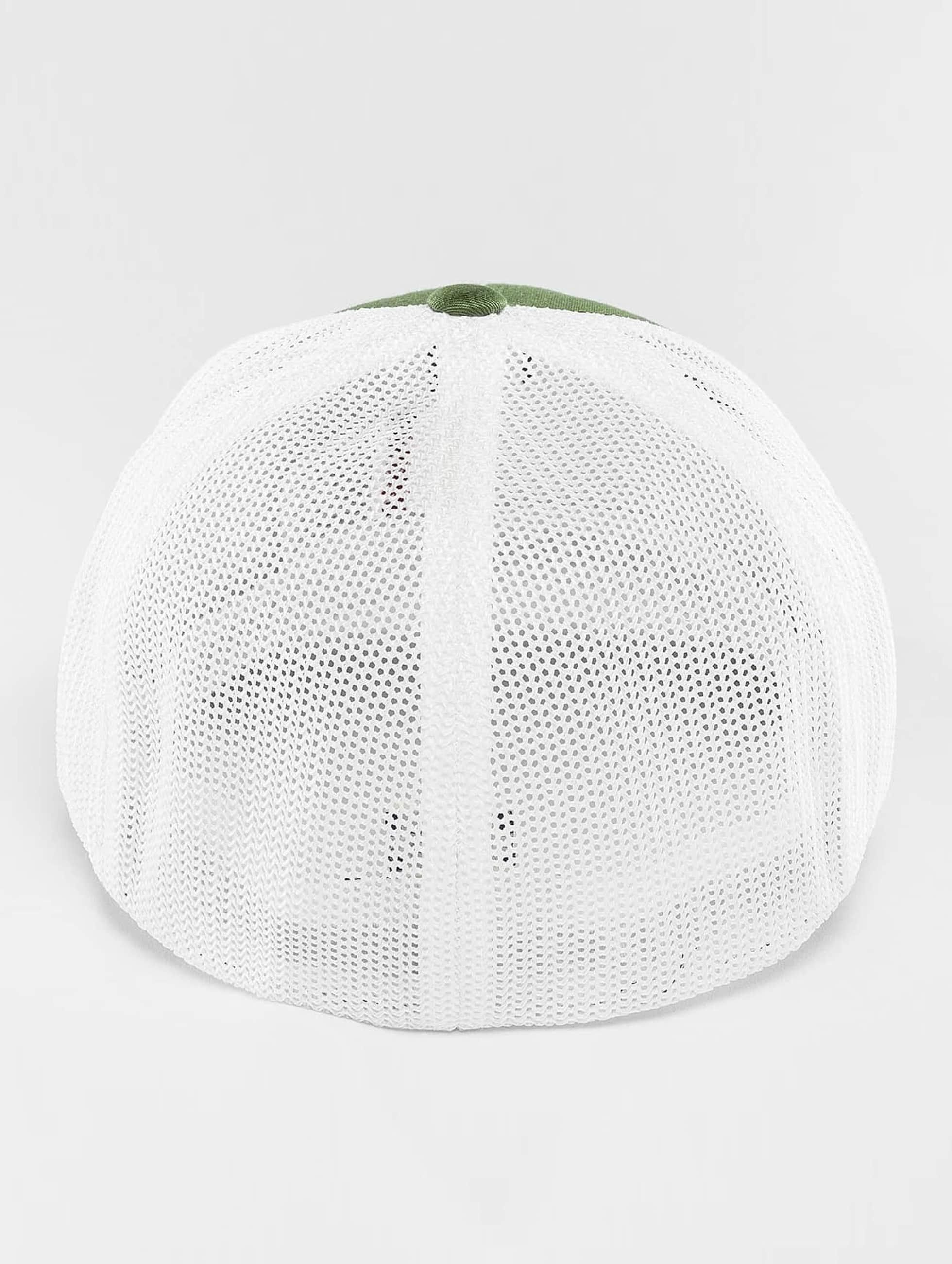 Flexfit Flexfitted Cap Mesh Cotton Twill Two Tone oliwkowy