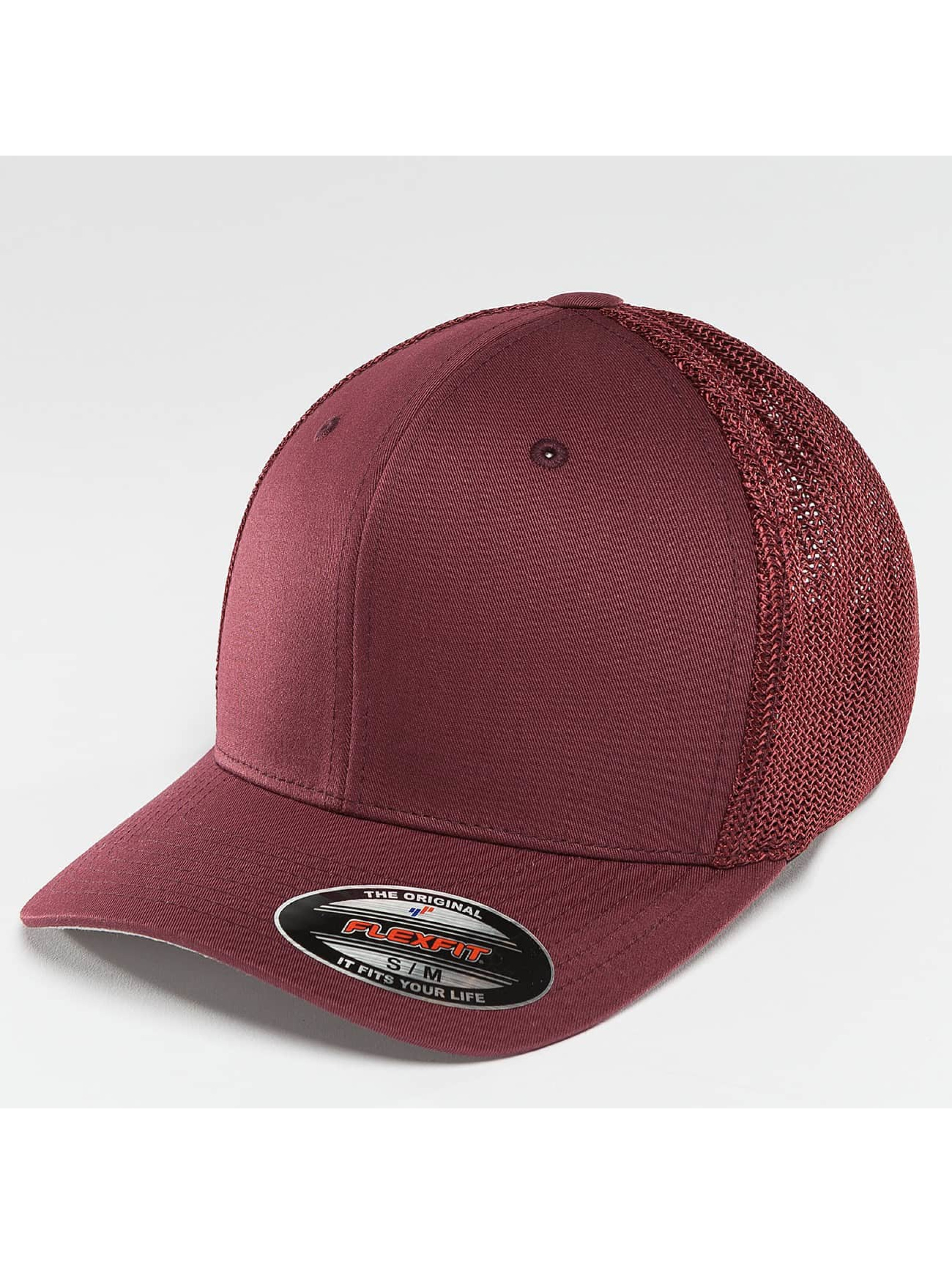 Flexfit Flexfitted Cap Mesh Cotton Twill rosso