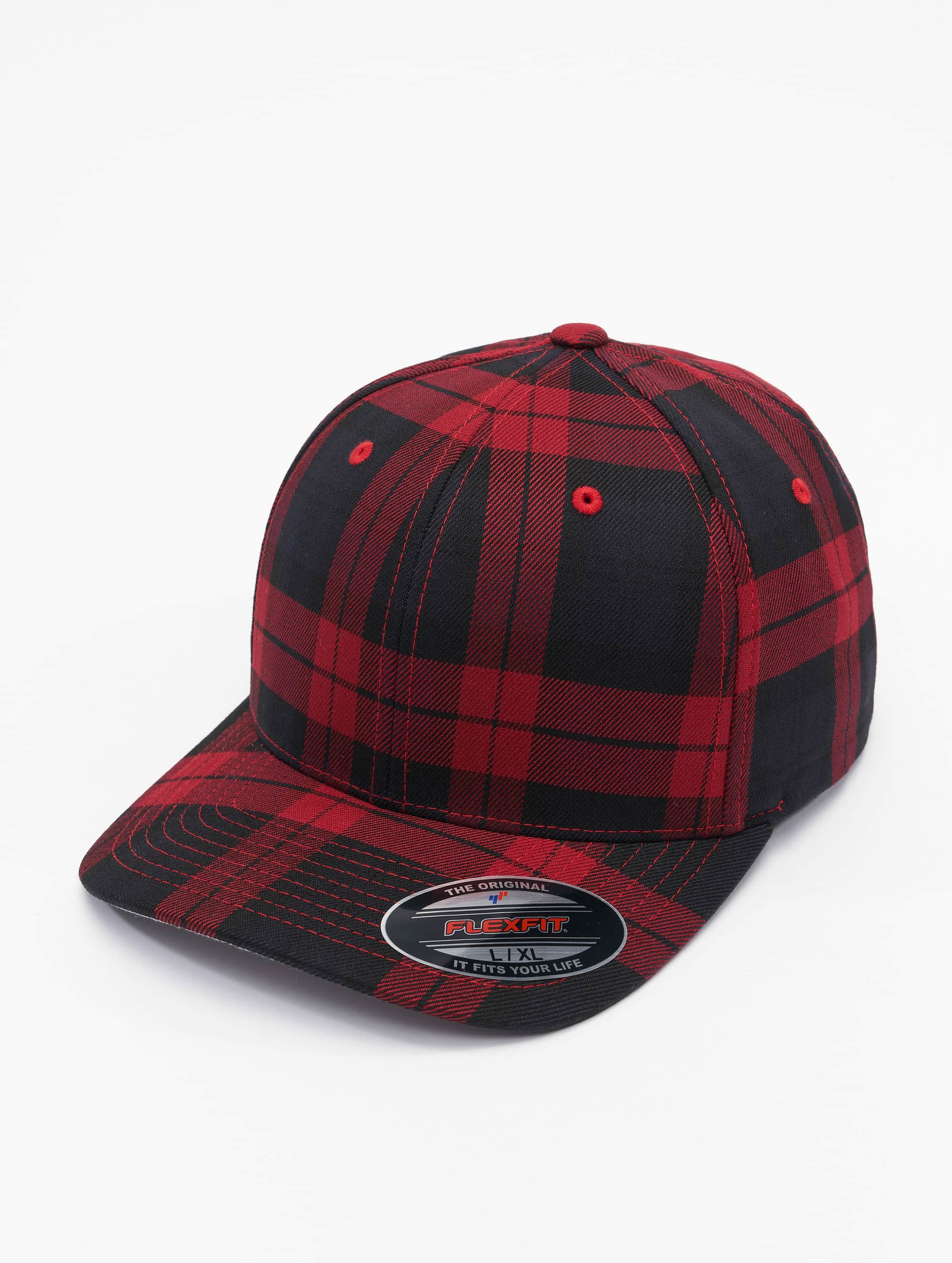 Flexfit Flexfitted Cap Tartan Plaid schwarz