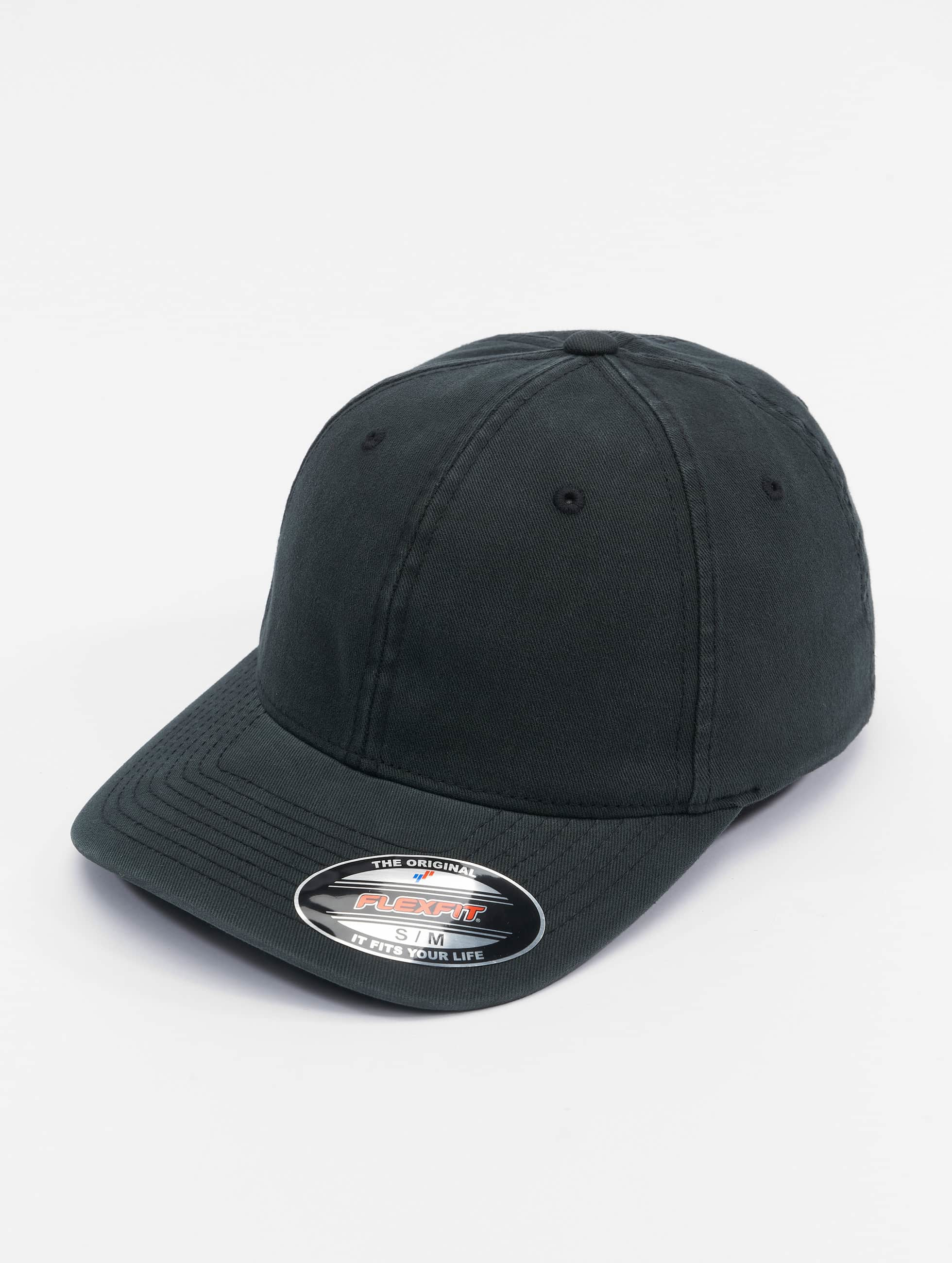 Flexfit Flexfitted Cap Garment Washed Cotton Dat schwarz