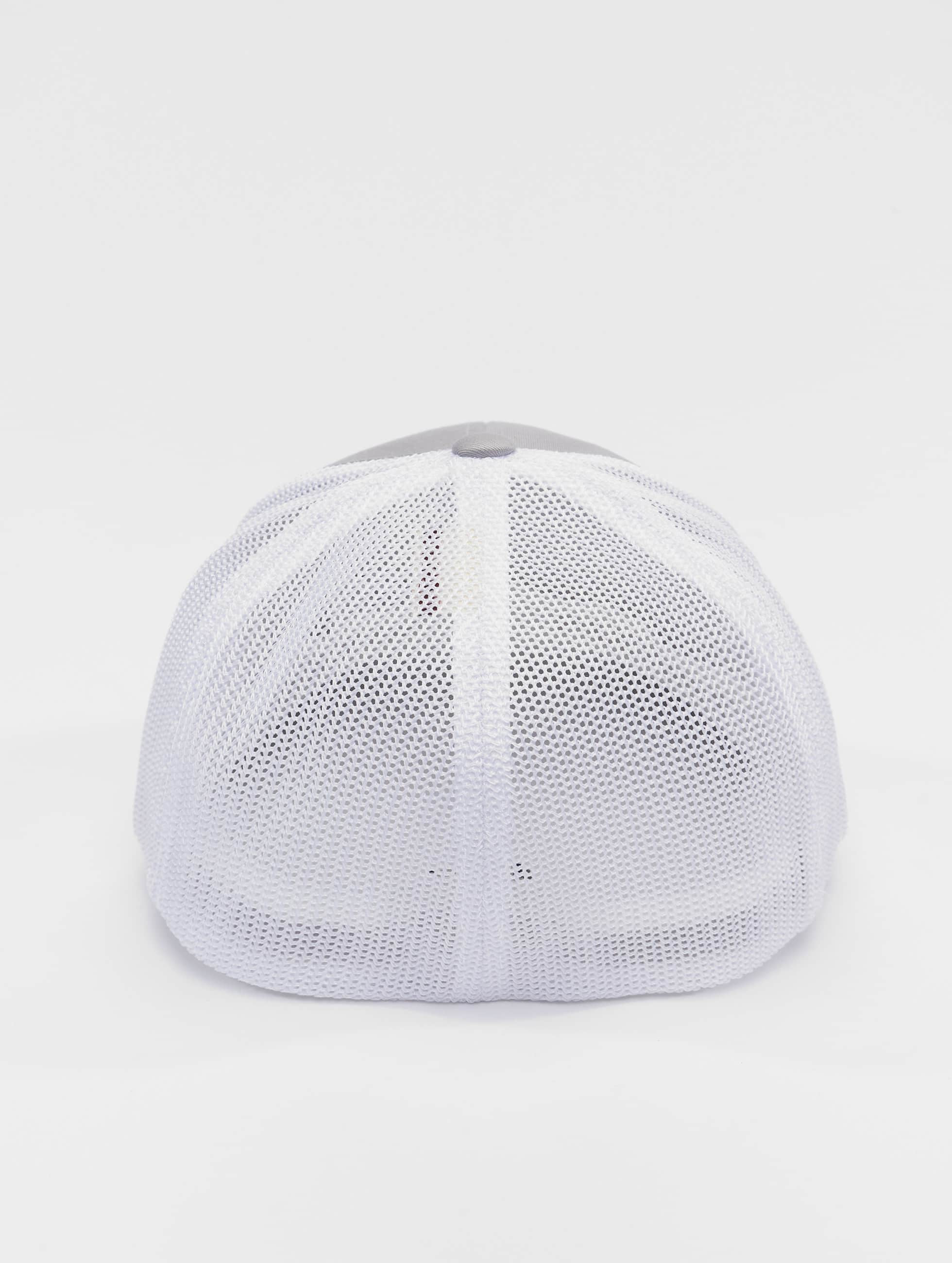 Flexfit Flexfitted Cap Mesh Cotton Twill silver colored