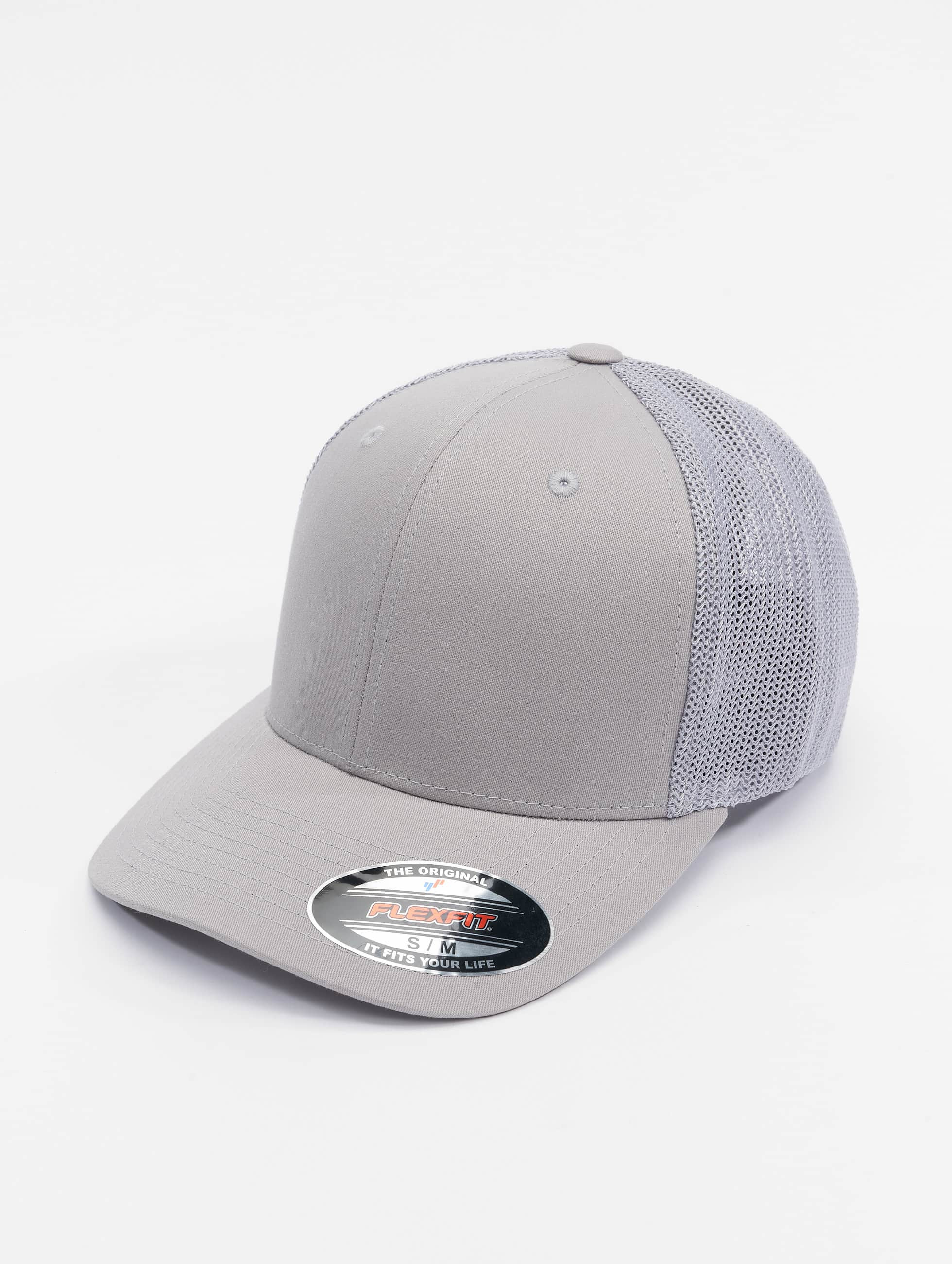 Flexfit Flexfitted Cap Mesh Cotton Twill stříbro