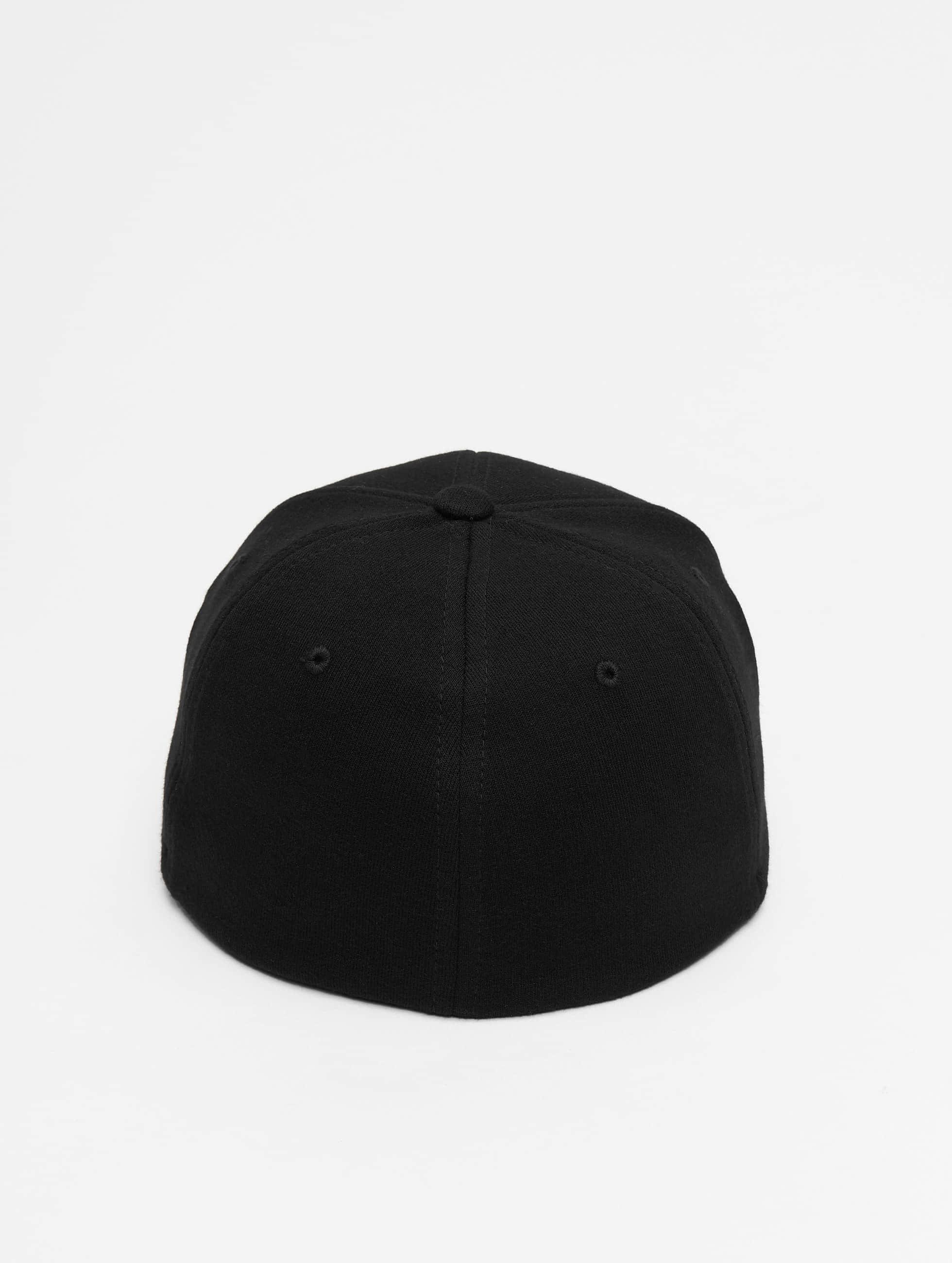 Flexfit Flexfitted Cap Double Jersey zwart