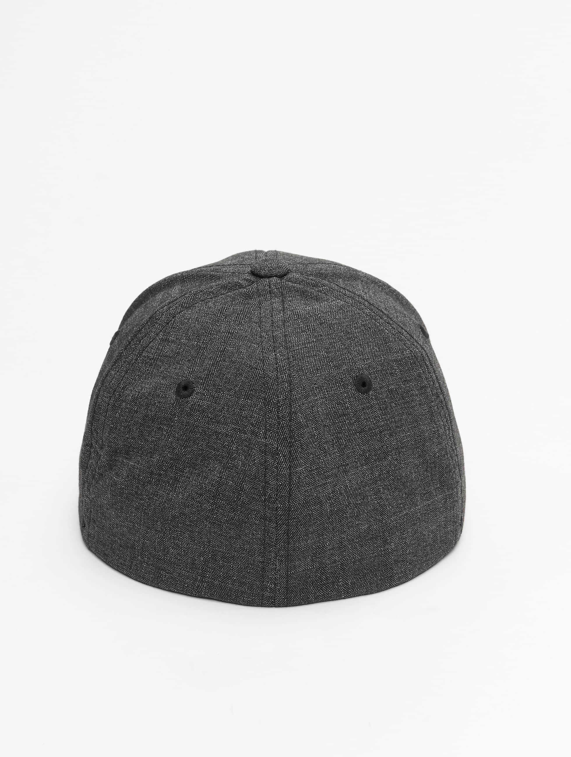 Flexfit Flexfitted Cap Fine Melange zwart