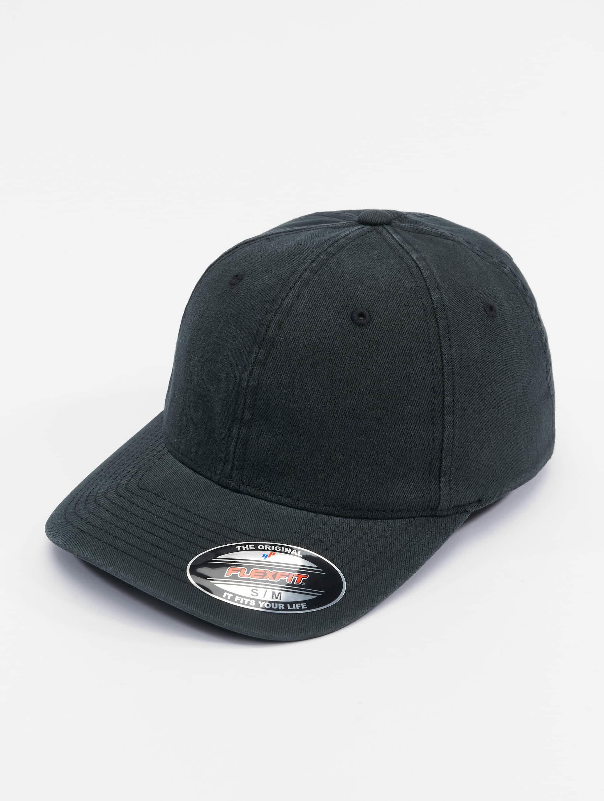Flexfit Flexfitted Cap Garment Washed Cotton Dat zwart