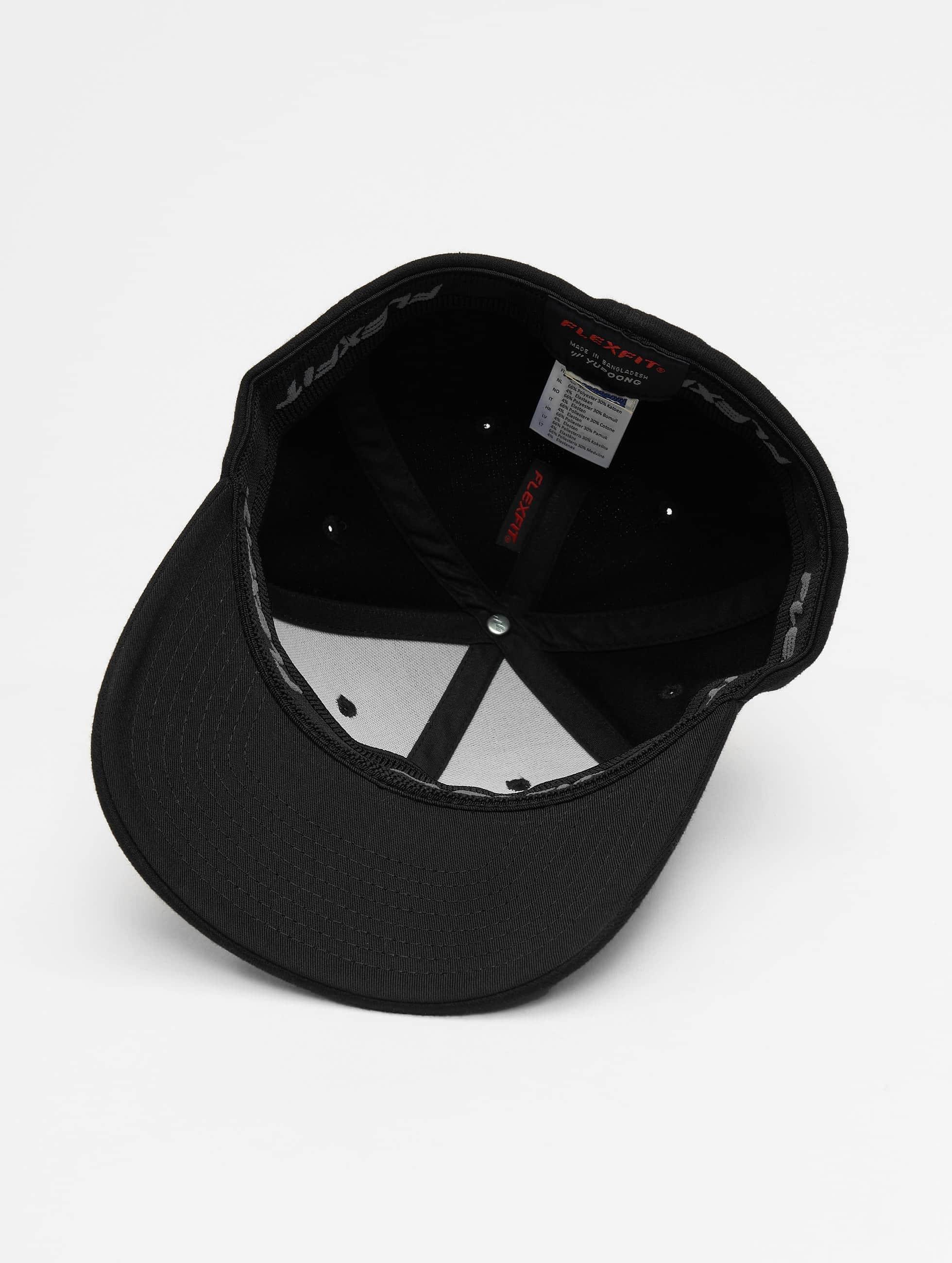 Flexfit Flexfitted-lippikset Double Jersey musta