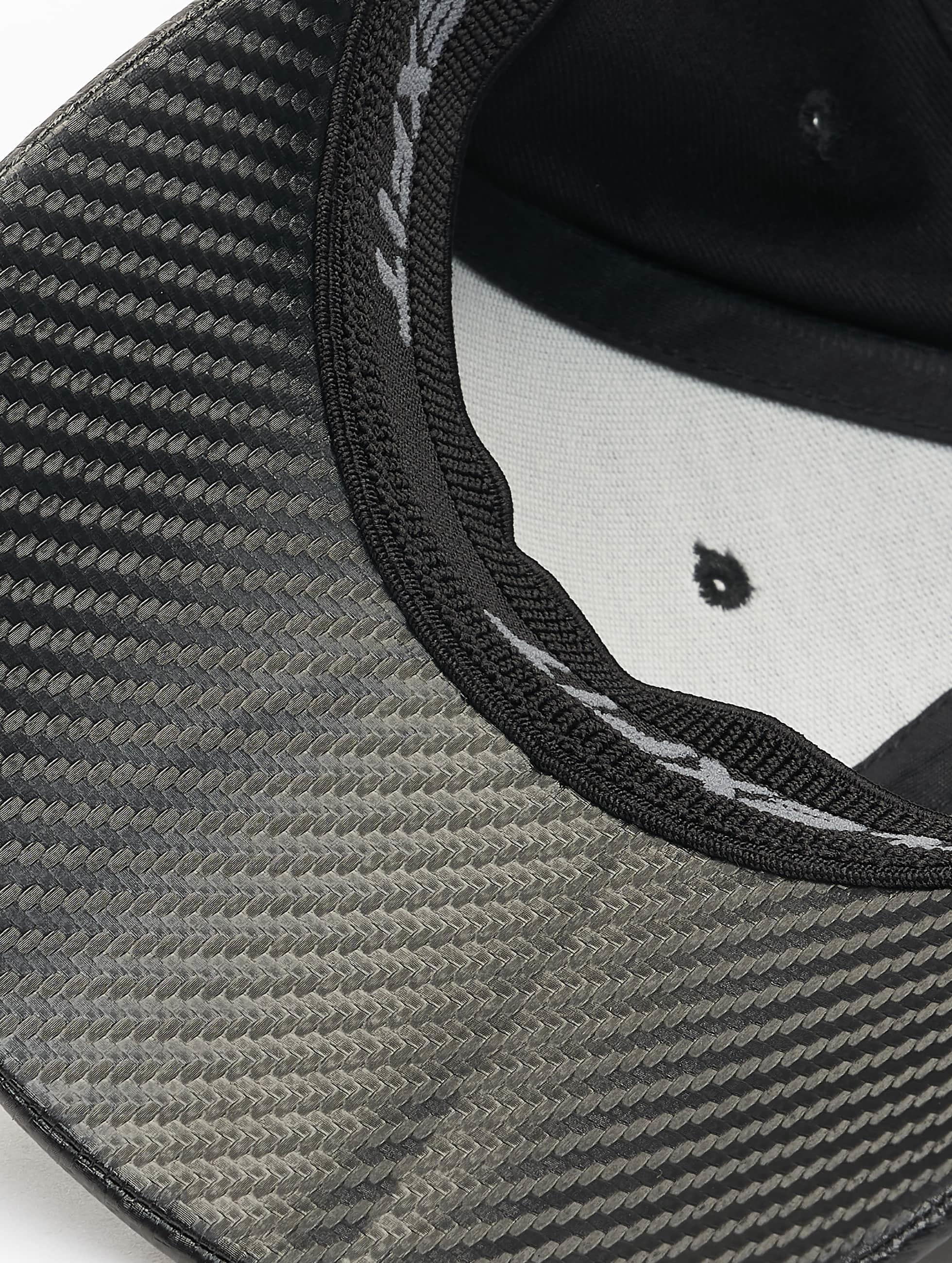 Flexfit Flexfitted-lippikset Carbon musta