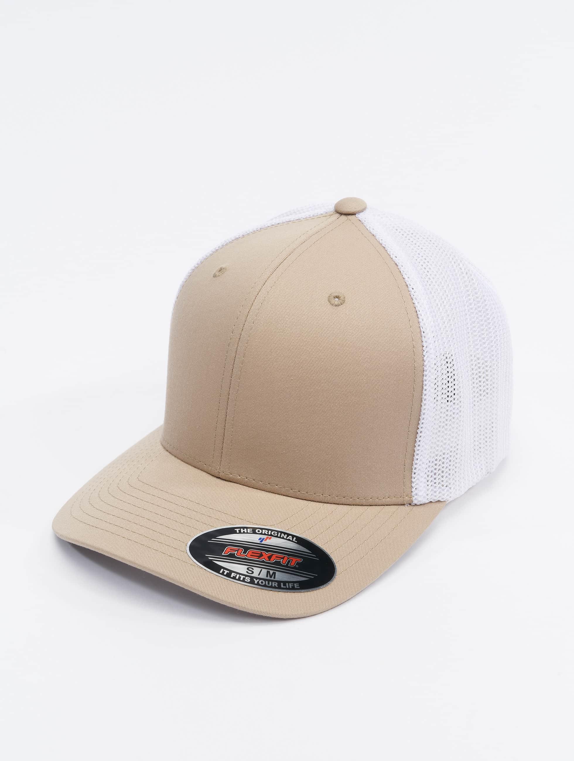 Flexfit Lastebilsjåfør- / flexfitted caps Mesh Cotton Twill beige